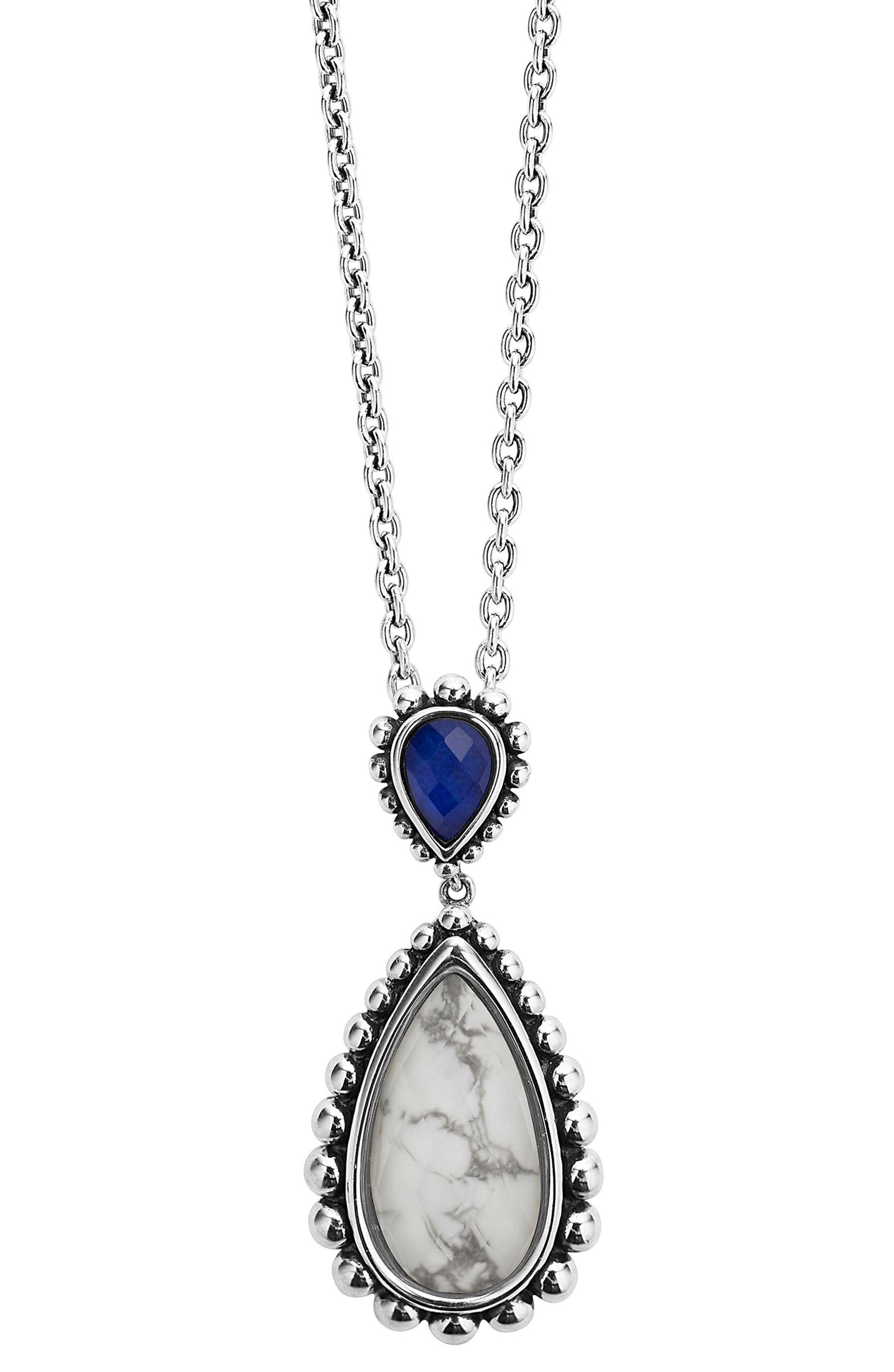 Maya Semiprecious Stone Pendant Necklace,                             Main thumbnail 1, color,