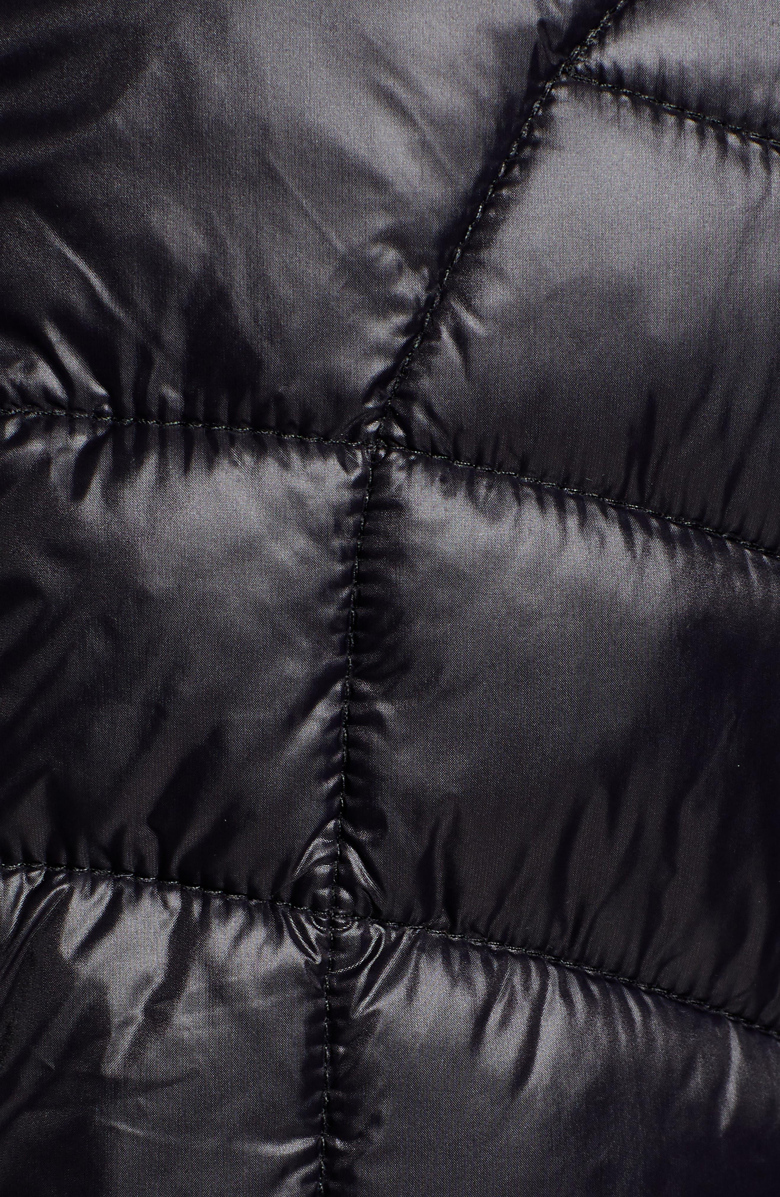 Puffer Jacket,                             Alternate thumbnail 7, color,                             BLACK