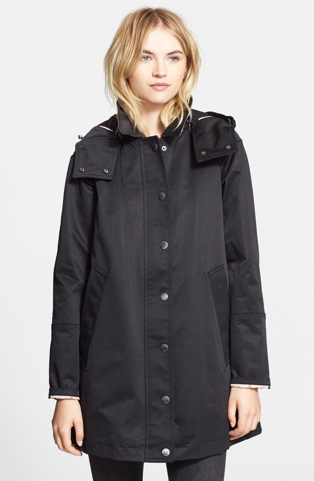 'Bowpark' Raincoat with Liner,                             Alternate thumbnail 3, color,                             001