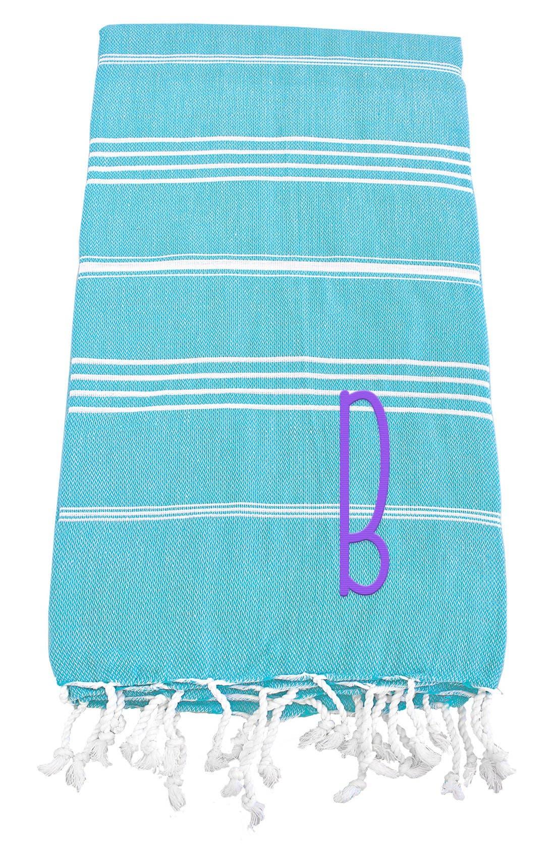 Monogram Turkish Cotton Towel,                             Main thumbnail 85, color,