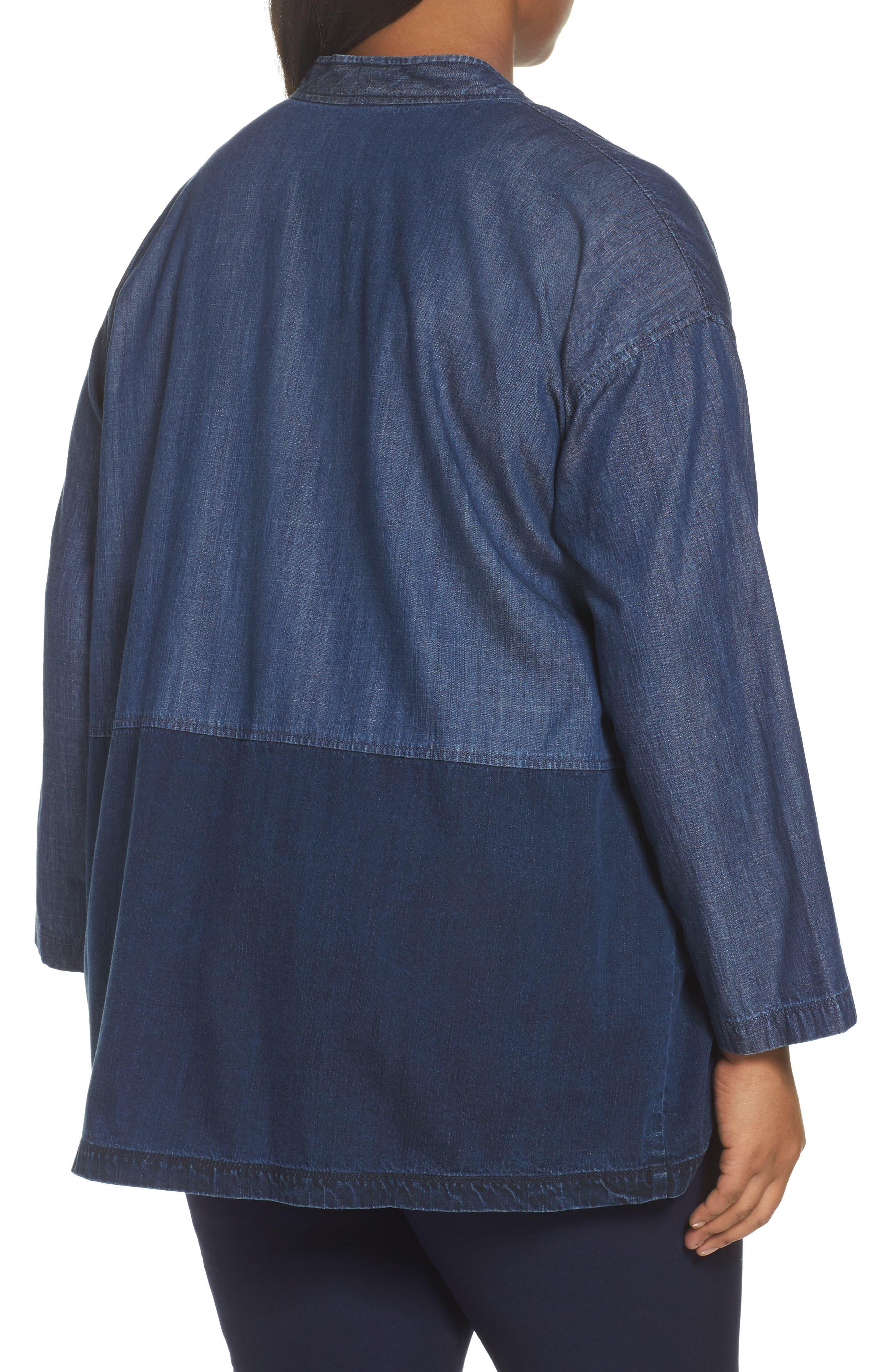 Denim Kimono Jacket,                             Alternate thumbnail 2, color,