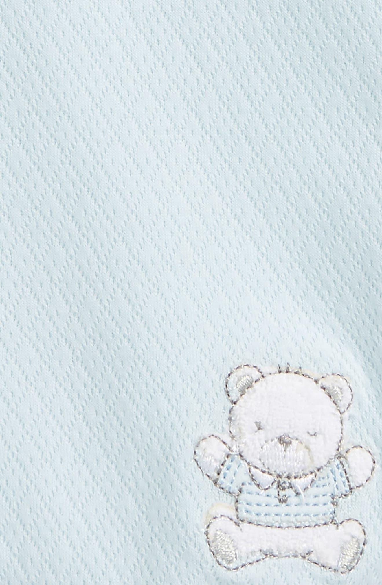 Bear Receiving Blanket,                             Alternate thumbnail 2, color,                             LIGHT BLUE