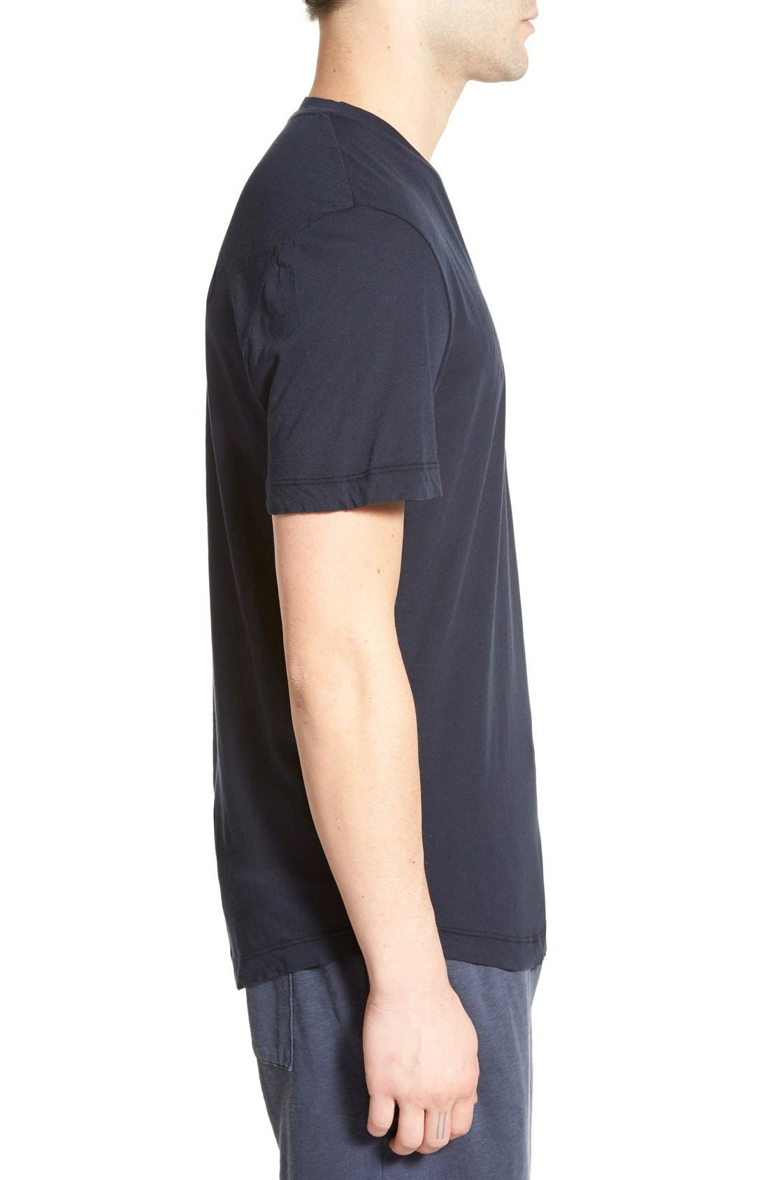 'Clear Jersey' Mélange V-Neck T-Shirt,                             Alternate thumbnail 18, color,