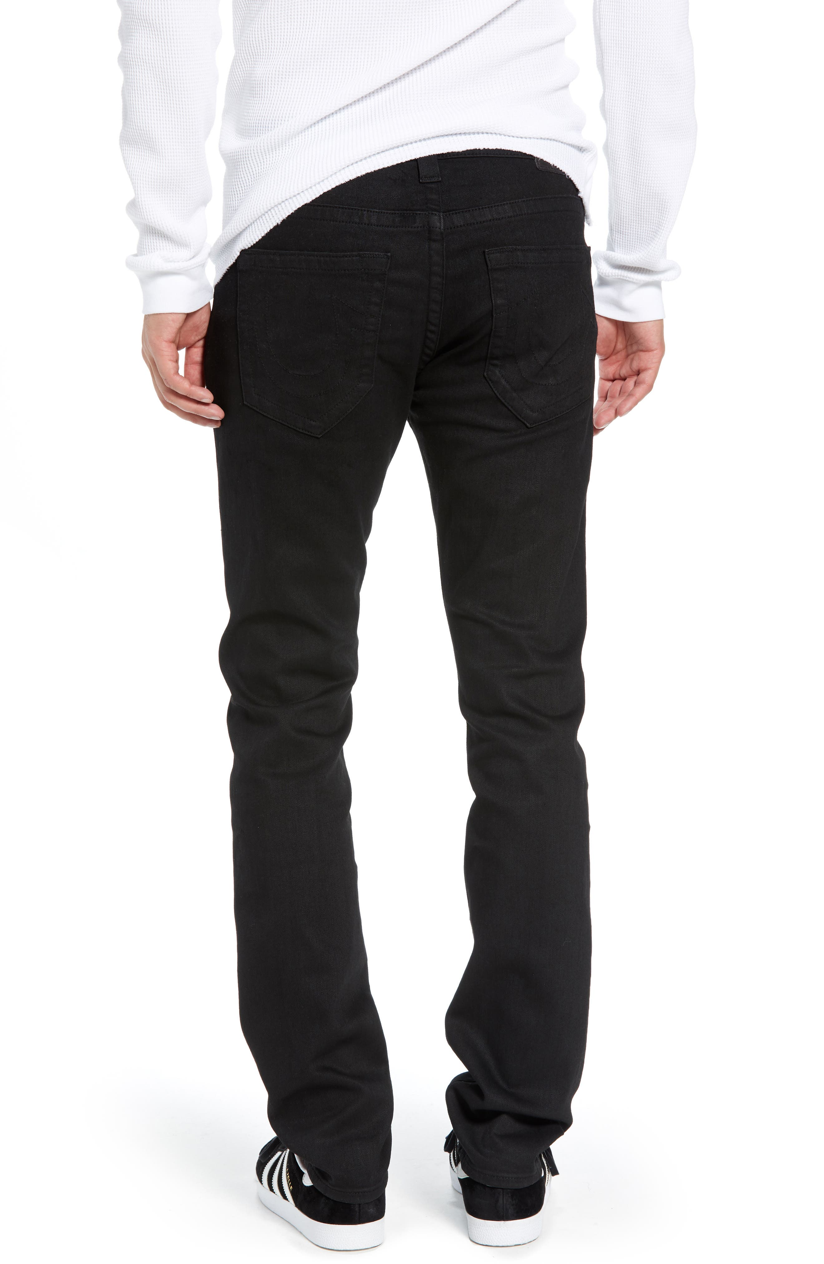 Rocco Skinny Fit Jeans,                             Alternate thumbnail 2, color,                             MIDNIGHT BLACK COATED