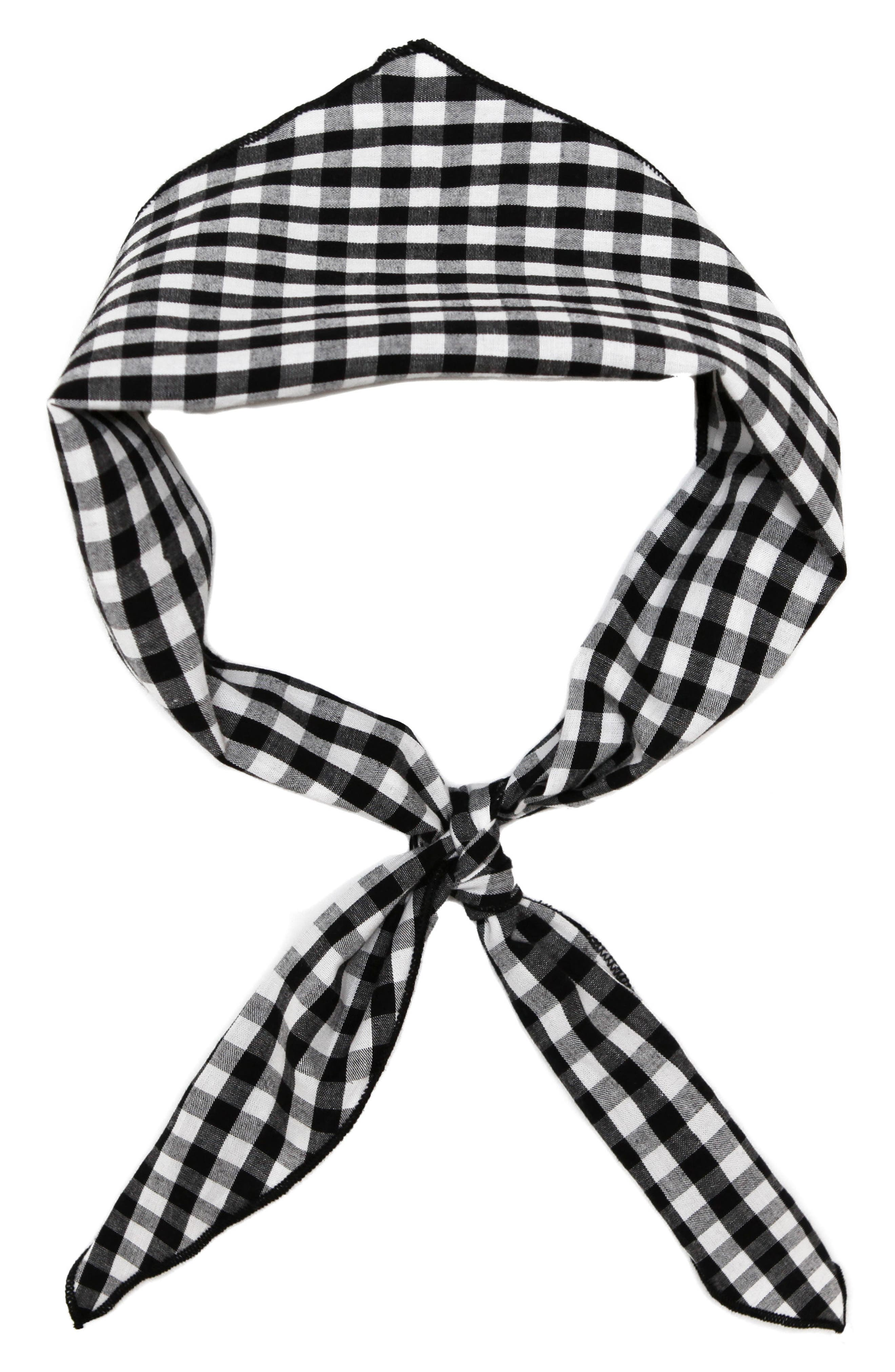 Gingham Scarf,                         Main,                         color, 001