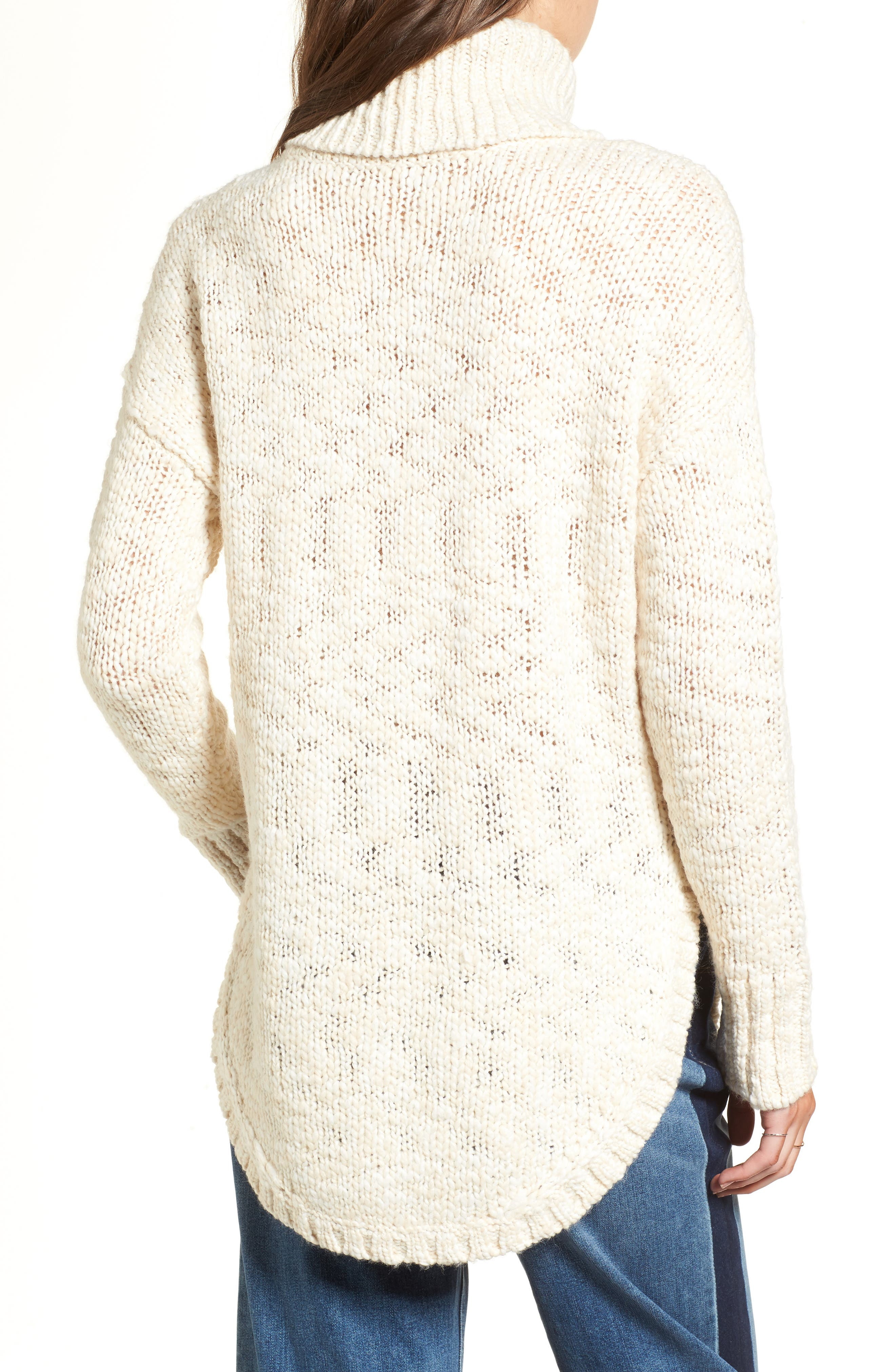 Treasure&Bond Turtleneck Sweater,                             Alternate thumbnail 2, color,                             BEIGE BEACH COMBO