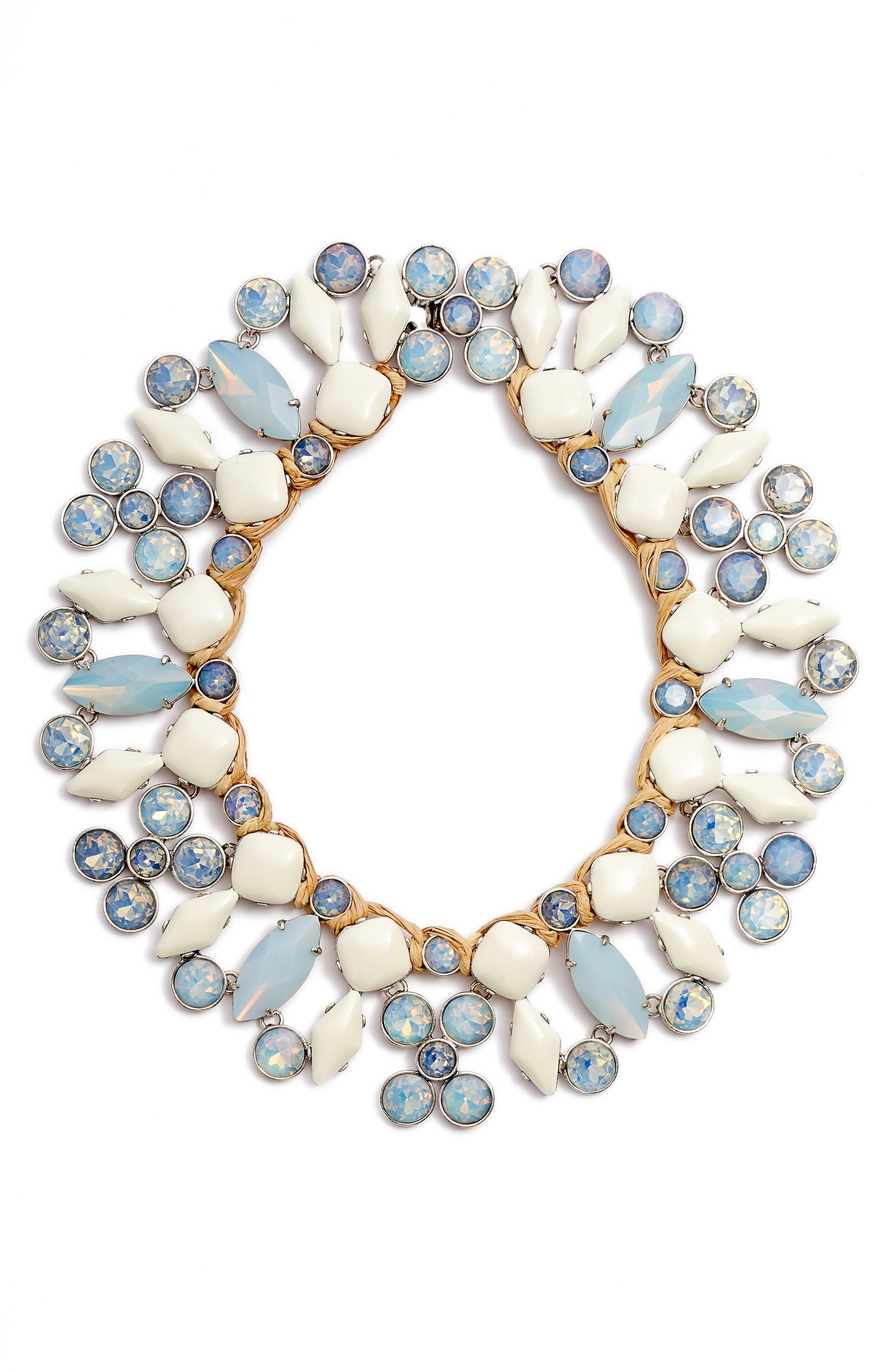 Moonstone Collar Necklace,                             Main thumbnail 1, color,                             MOONSTONE