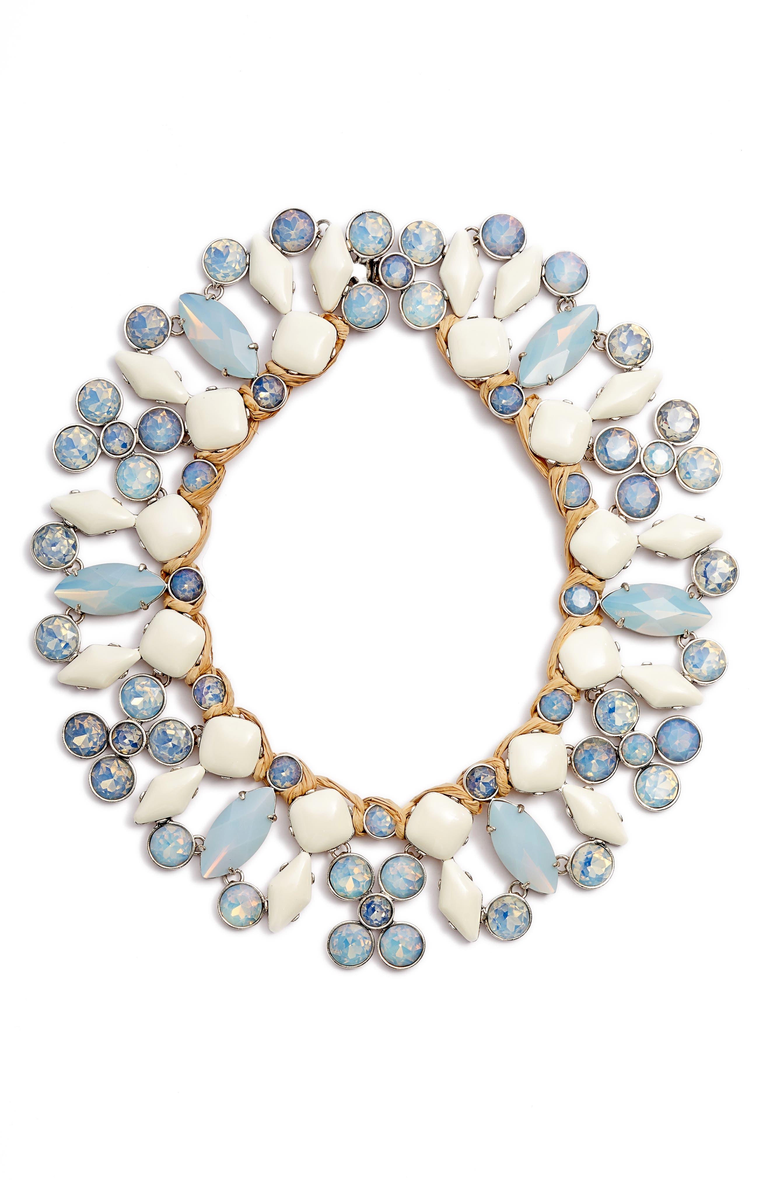 Moonstone Collar Necklace,                         Main,                         color, MOONSTONE