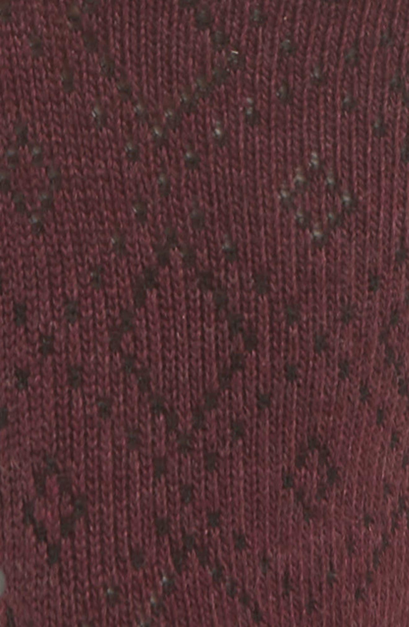Low Rise Half-Toe Gripper Socks,                             Alternate thumbnail 3, color,                             VIXEN