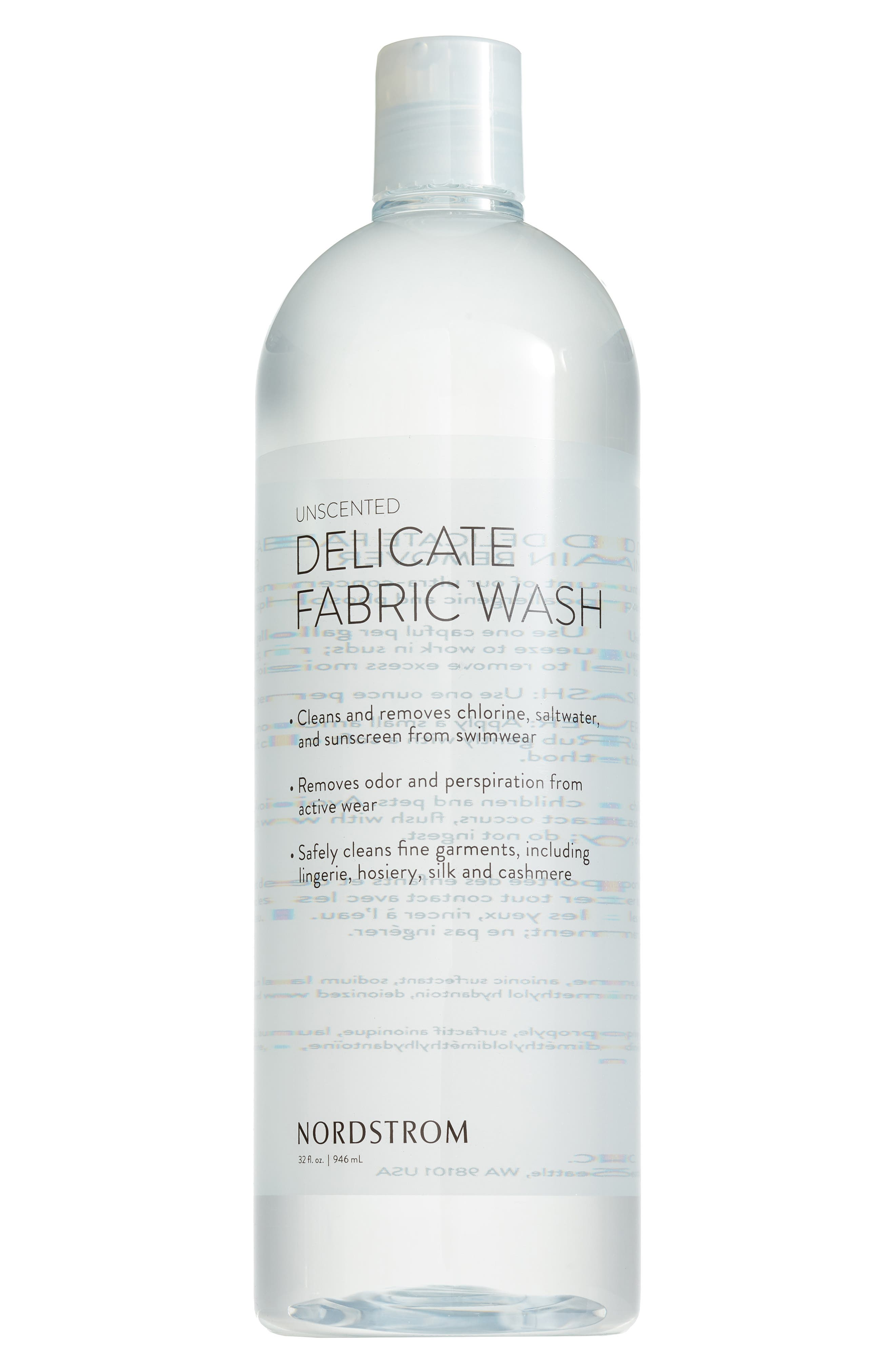 32 oz. Fragrance Free Fabric Wash,                         Main,                         color, CLEAR