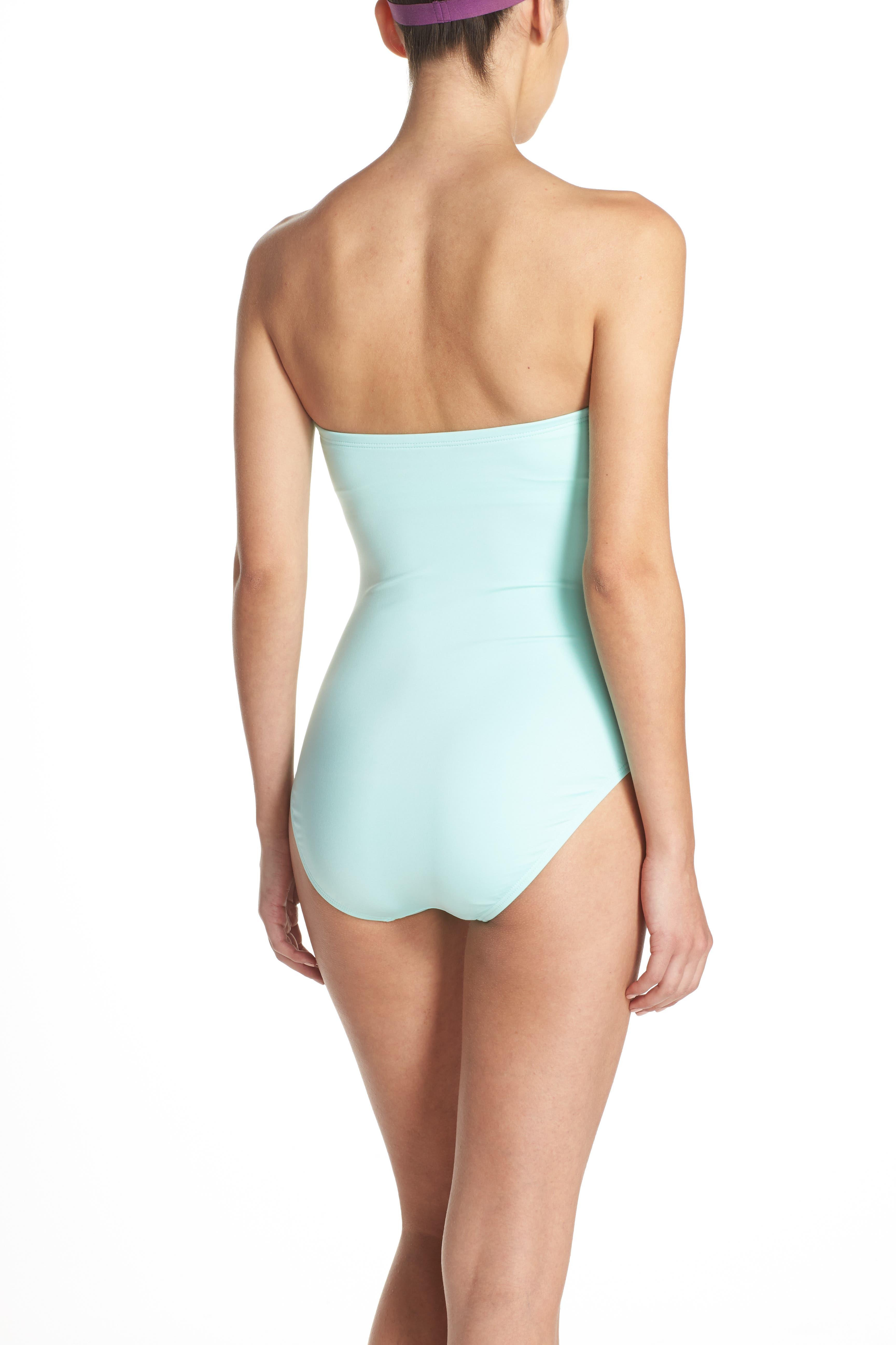 bow neck one-piece swimsuit,                             Alternate thumbnail 5, color,