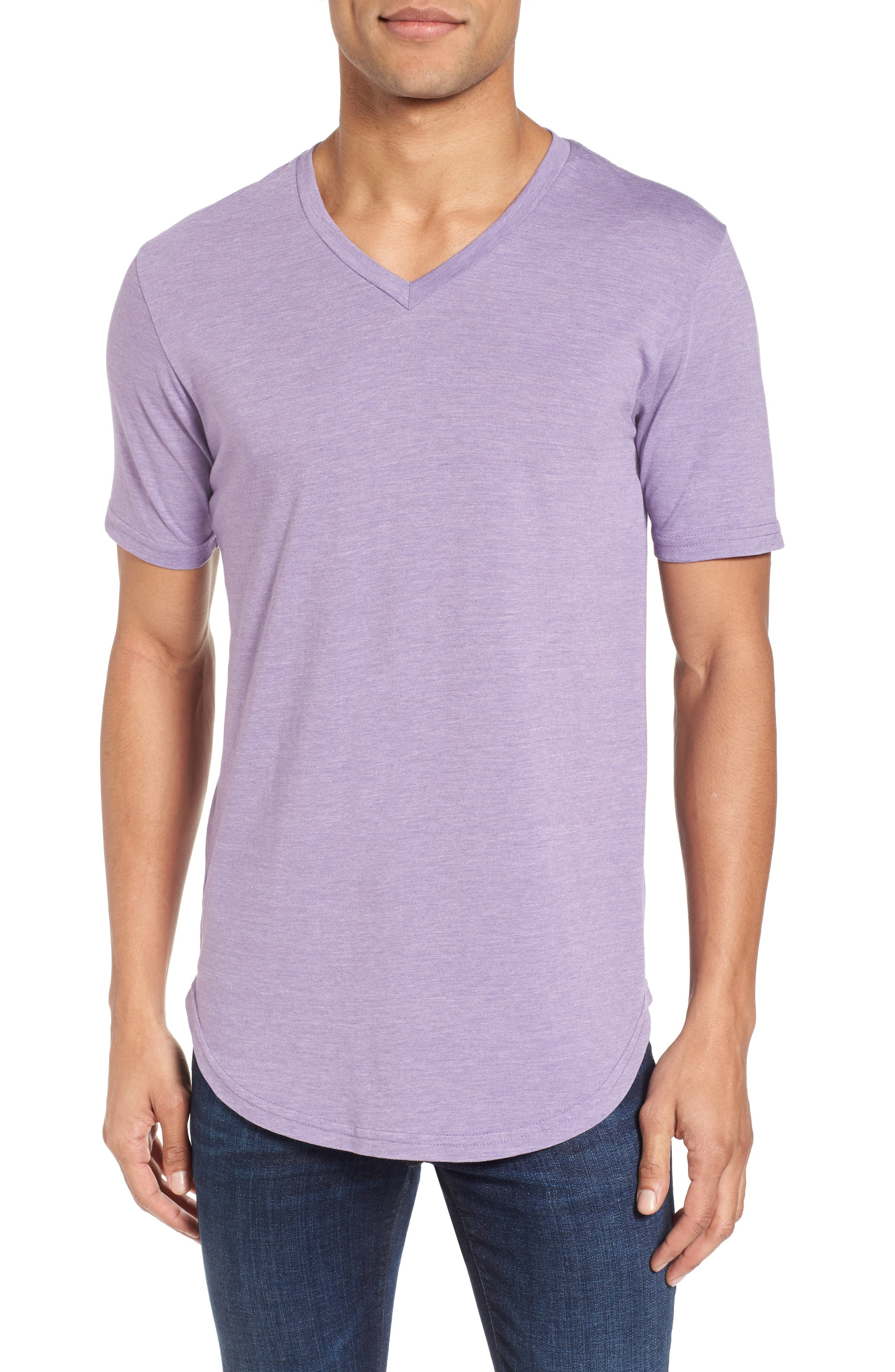 Scallop Triblend V-Neck T-Shirt,                             Main thumbnail 11, color,