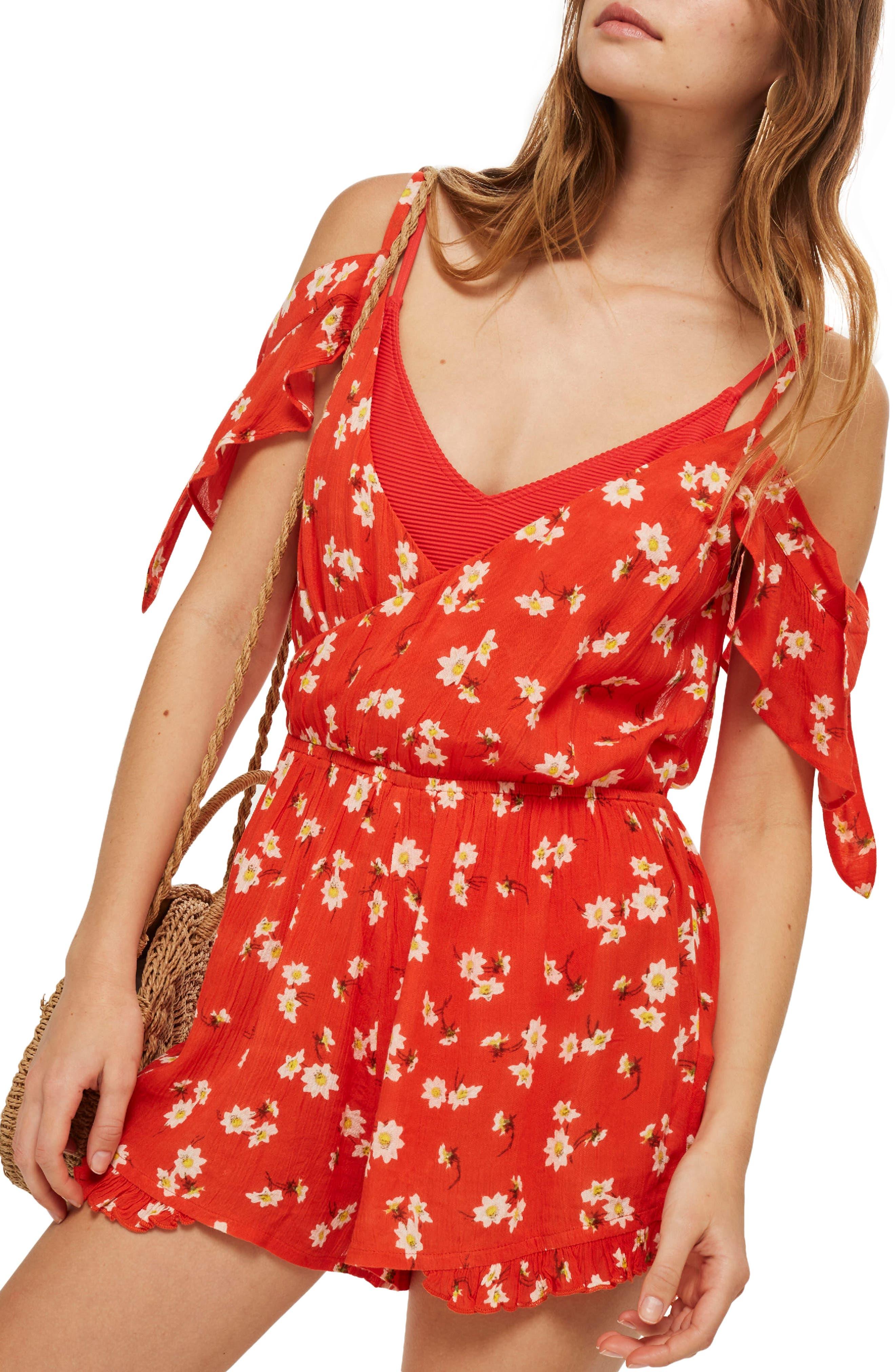 Daisy Floral Print Jumpsuit,                         Main,                         color,