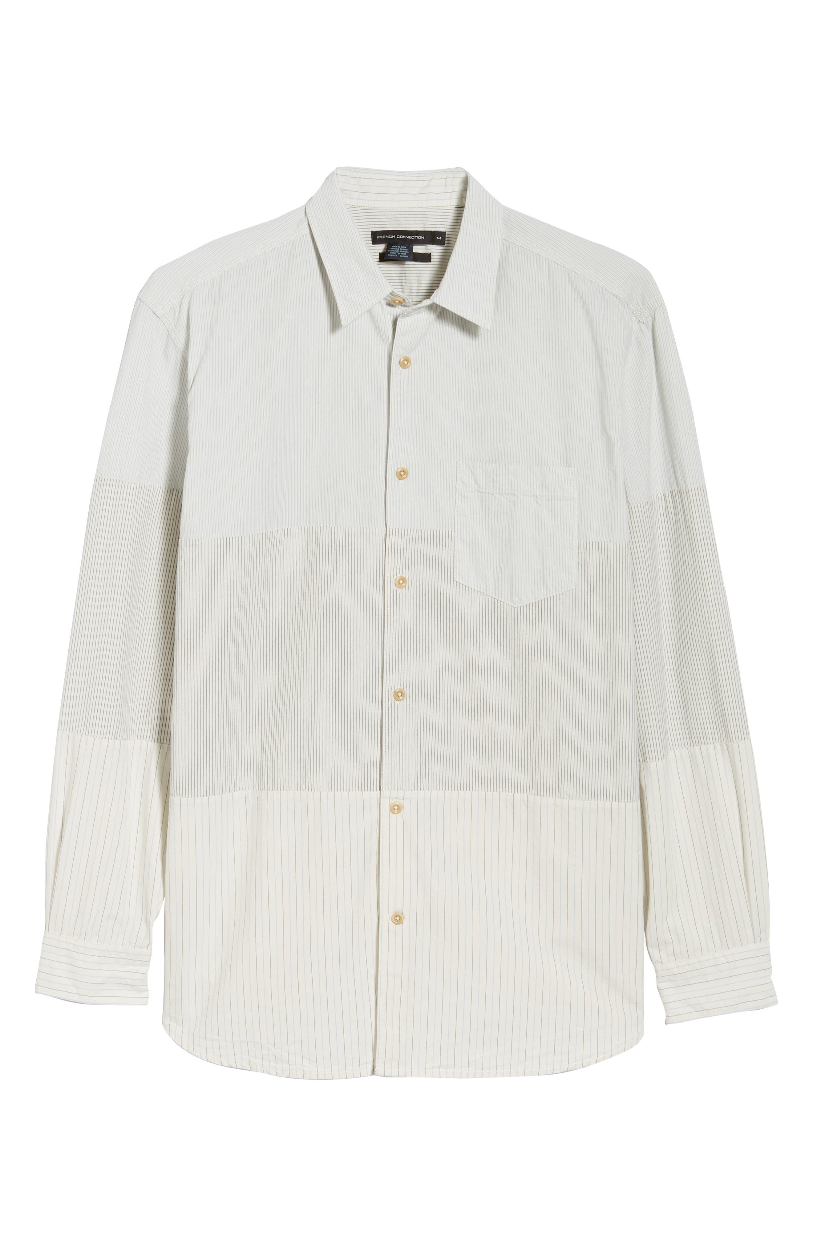 Core Peach Regular Fit Patchwork Sport Shirt,                             Alternate thumbnail 5, color,                             400