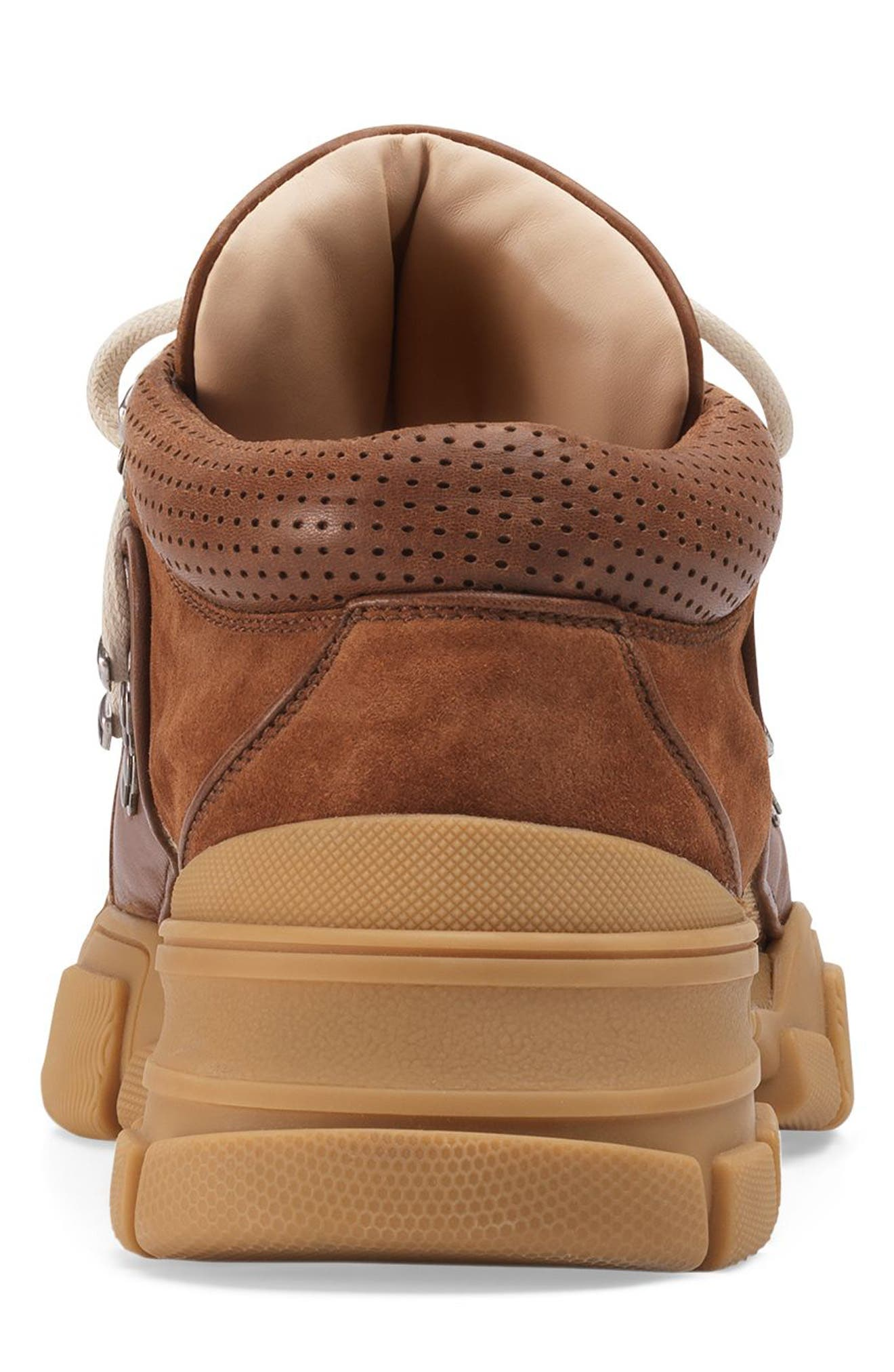 Leather & Original GG Trekking Boot,                             Alternate thumbnail 5, color,                             BROWN