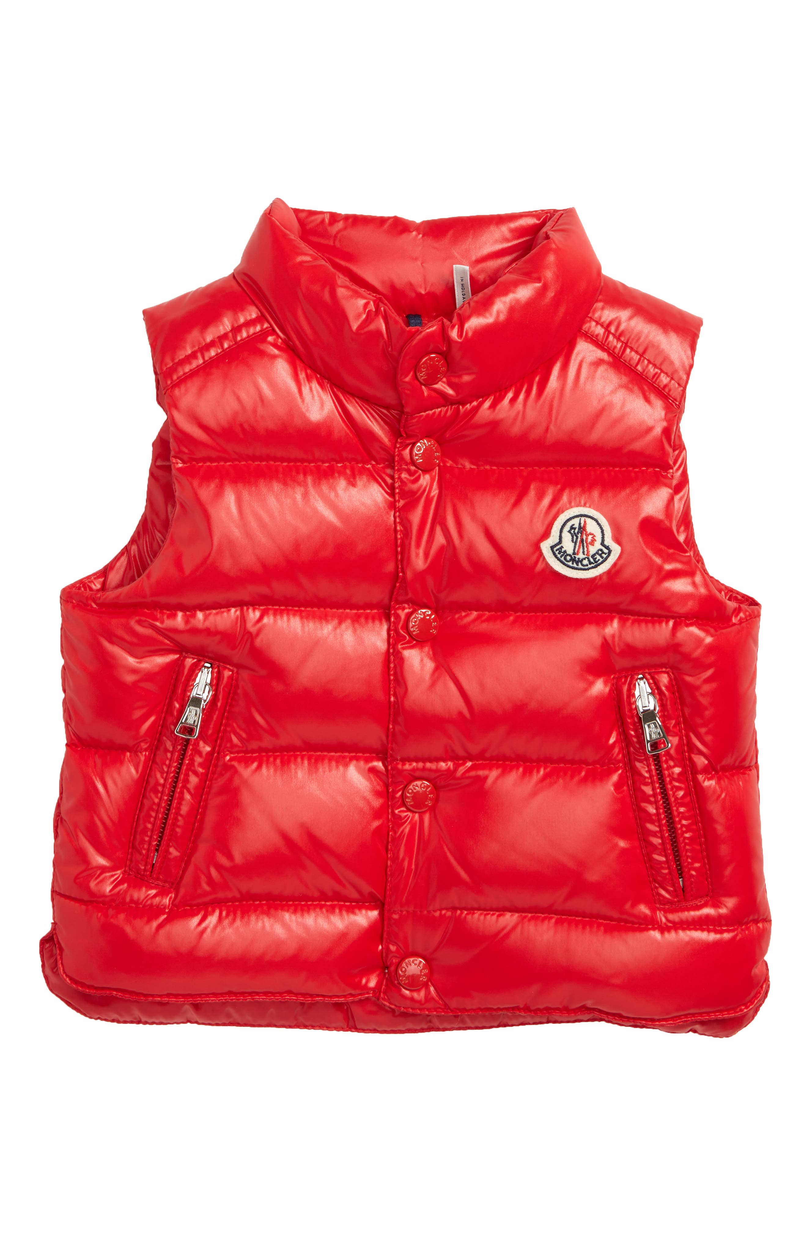 Bernard Water Resistant Down Puffer Vest,                             Main thumbnail 1, color,                             RED