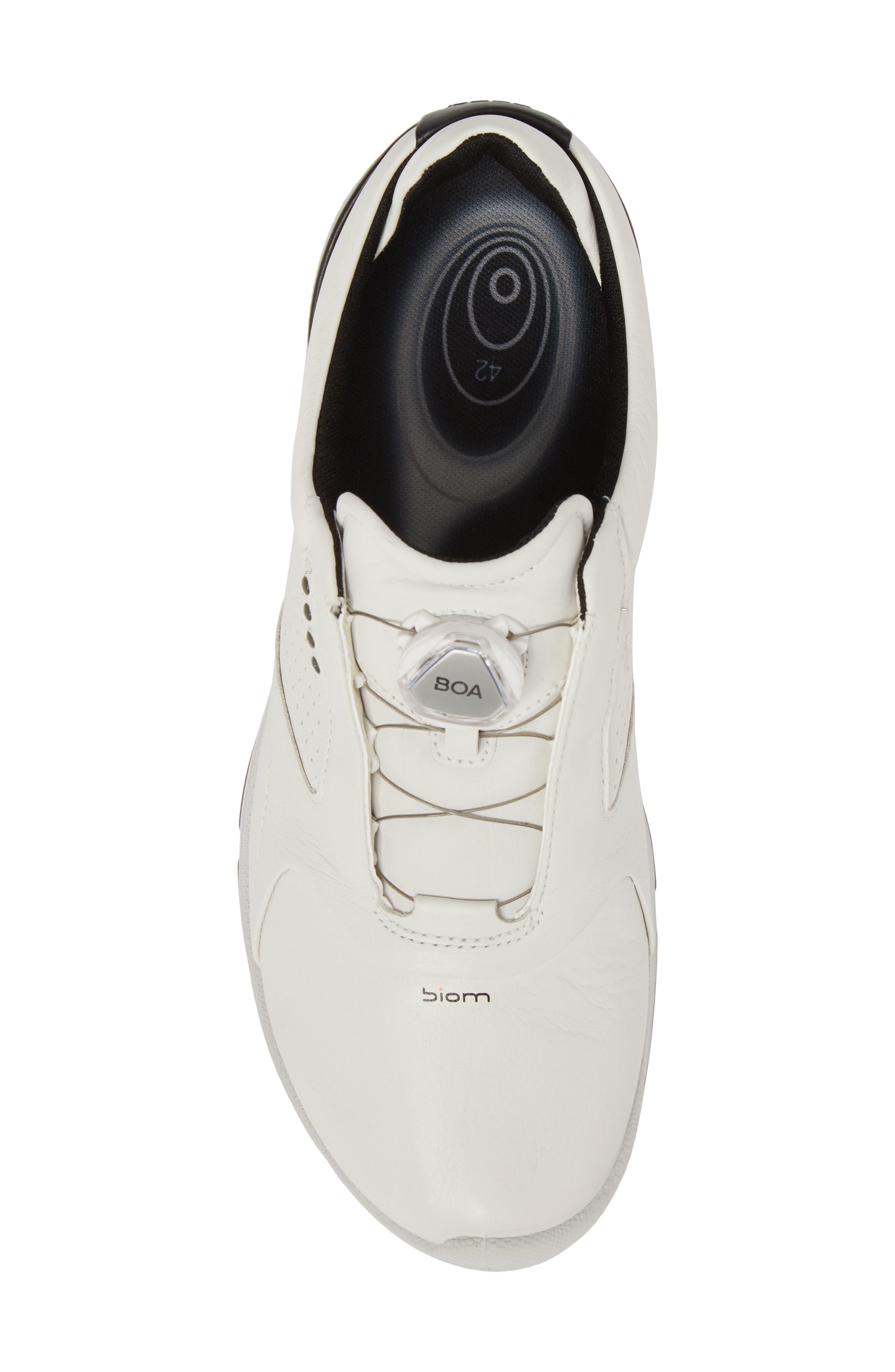 BIOM 2 BOA Gore-Tex<sup>®</sup> Golf Shoe,                             Alternate thumbnail 5, color,                             WHITE/ BLACK LEATHER