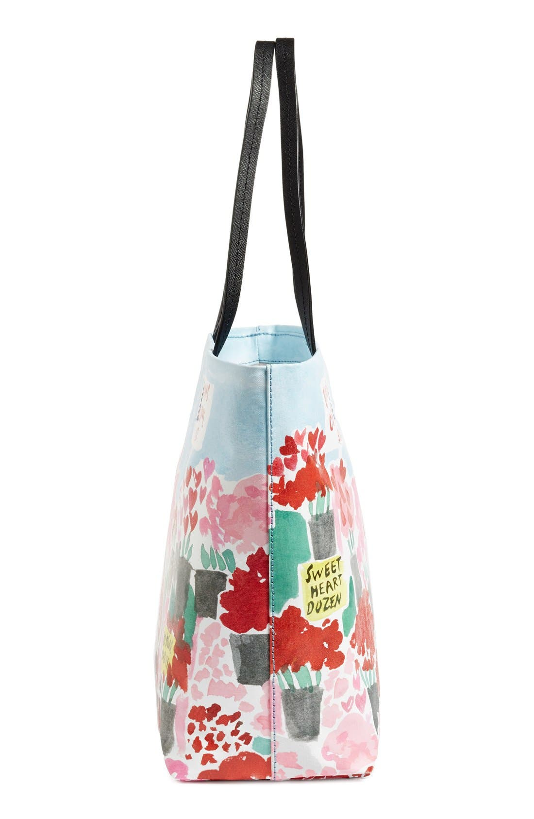be mine rose scene hallie canvas tote,                             Alternate thumbnail 8, color,                             604