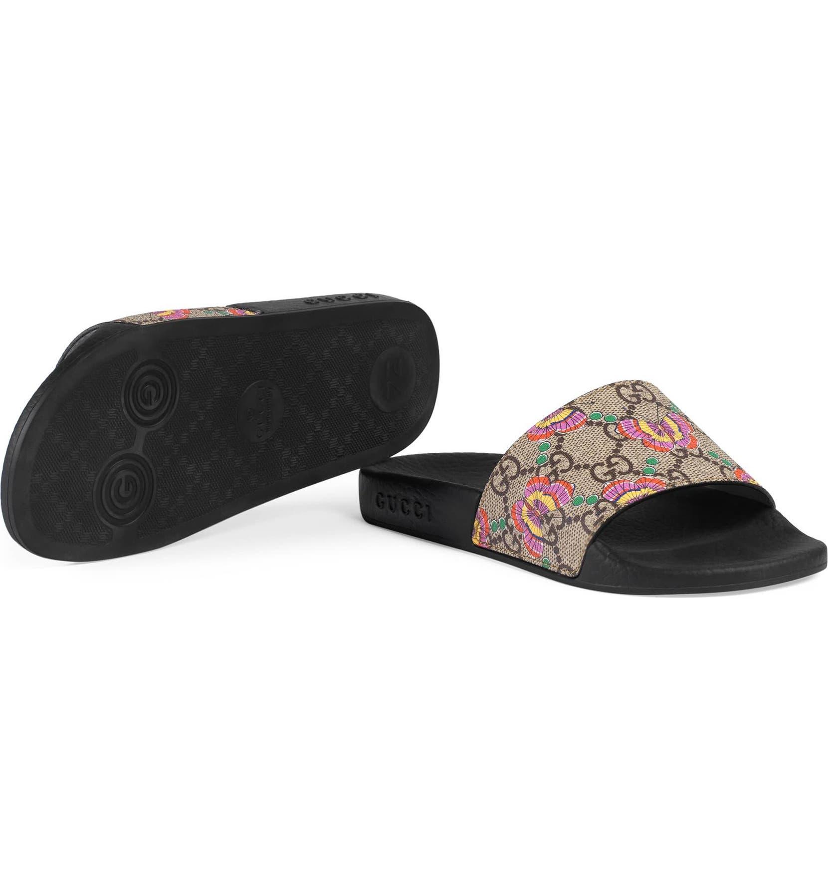 07ee07cdaed39 Gucci GG Supreme Butterfly Slide Sandal (Toddler   Little Kid ...
