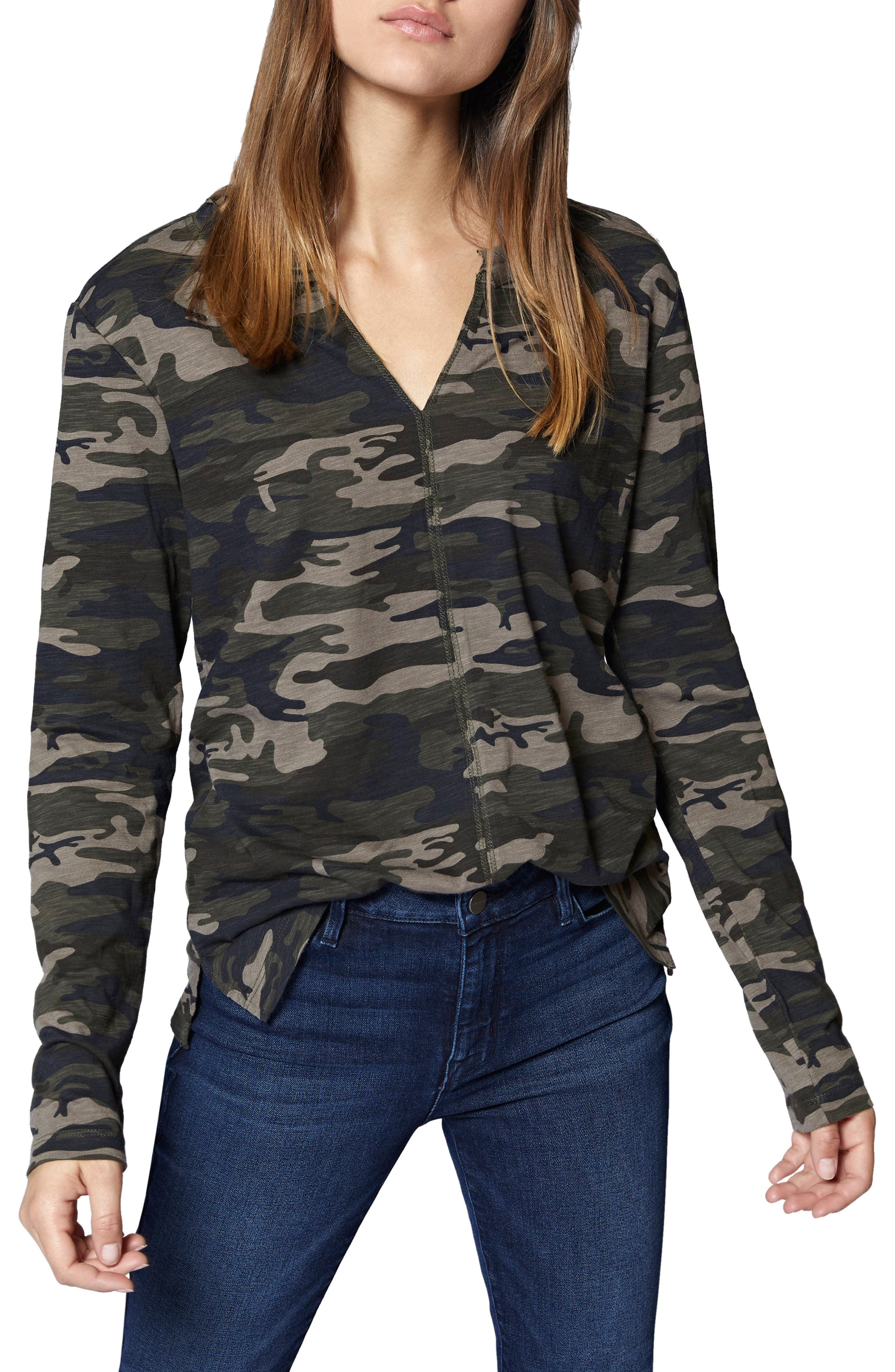 Ives Long Sleeve Camo Tee,                             Main thumbnail 1, color,                             HUMAN NATURE CAMO