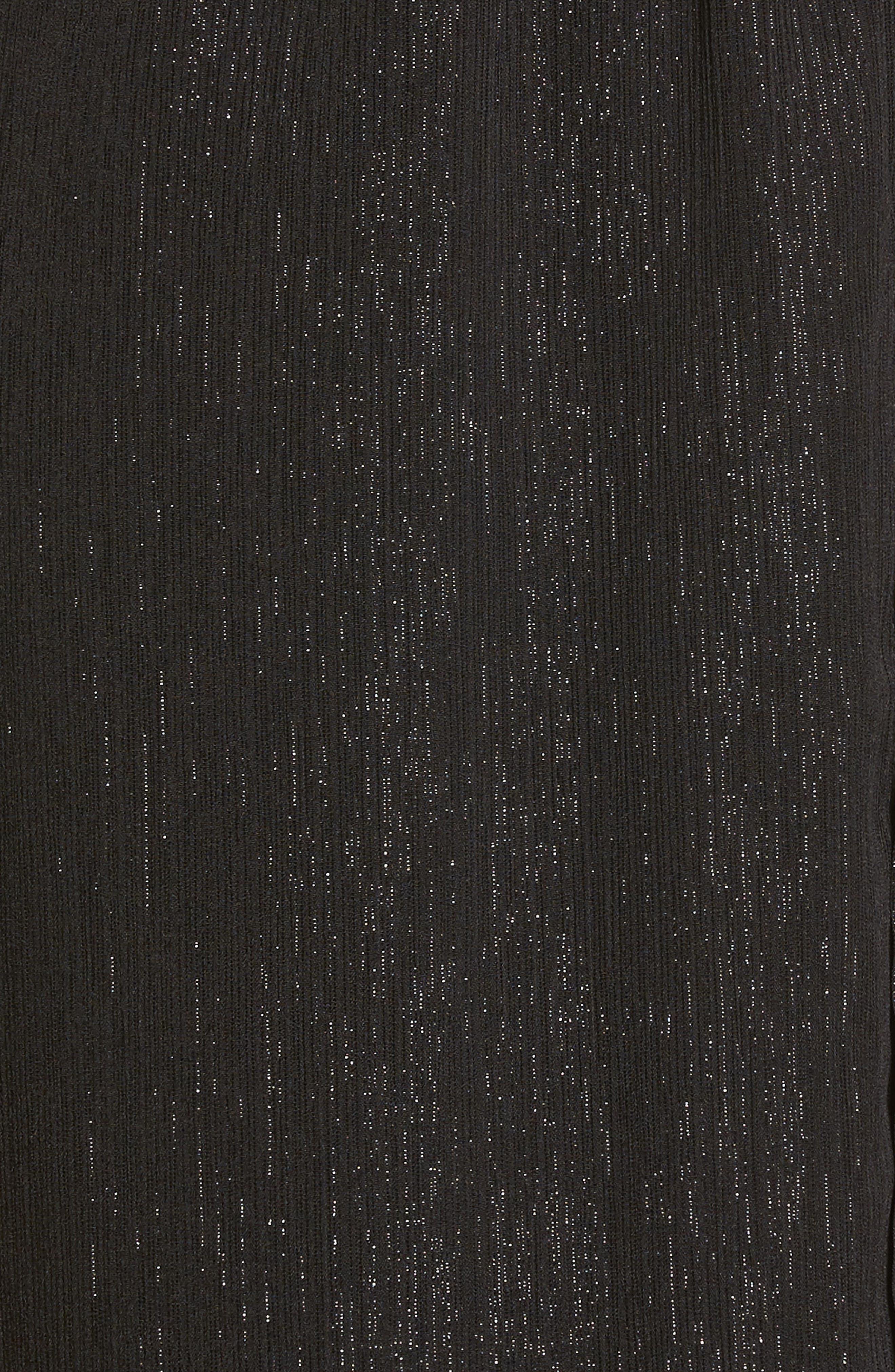 Metallic Surplice Dress,                             Alternate thumbnail 5, color,                             002