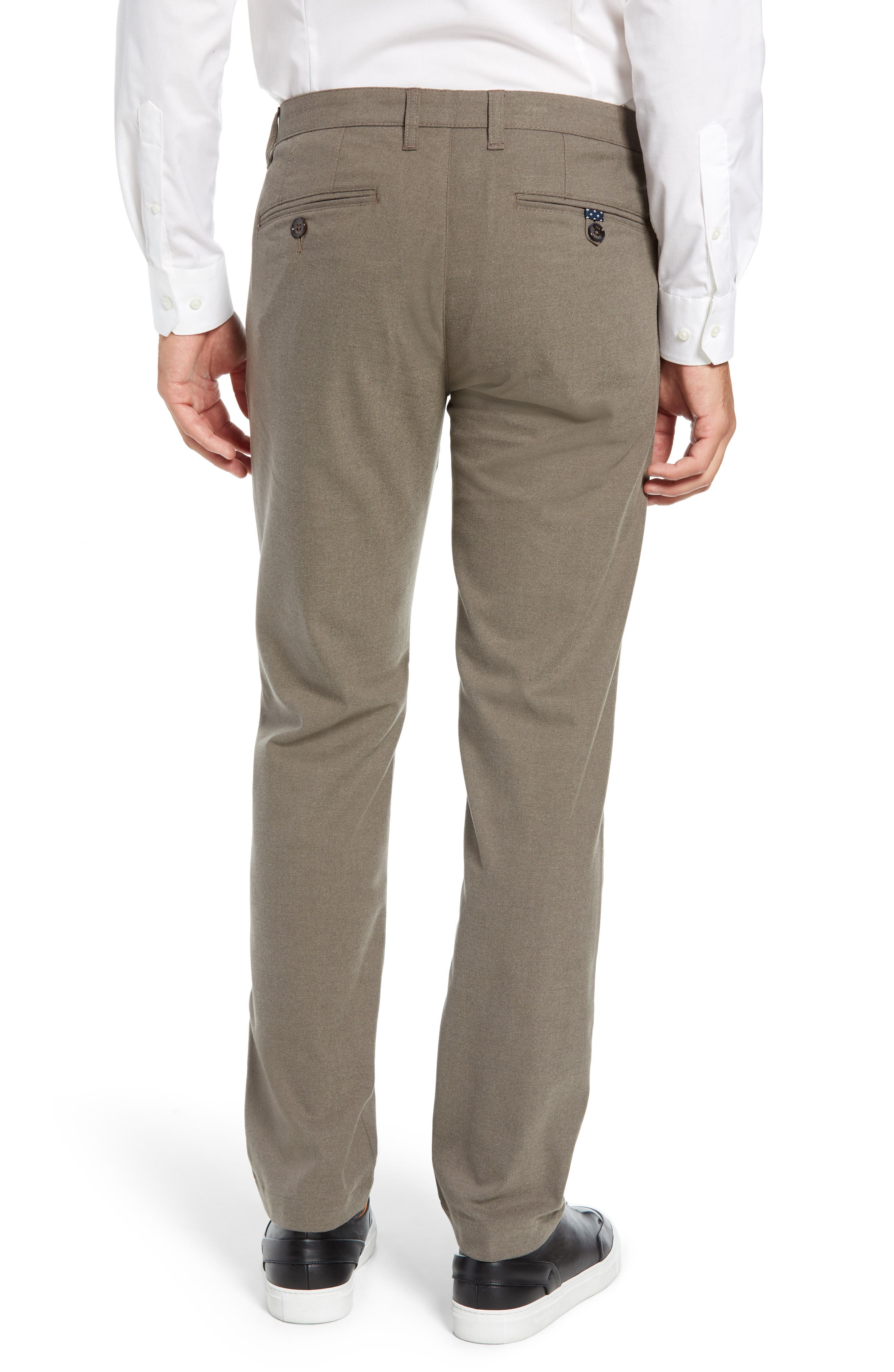Tall Slim Fit Brushed Trousers,                             Alternate thumbnail 2, color,                             NATURAL
