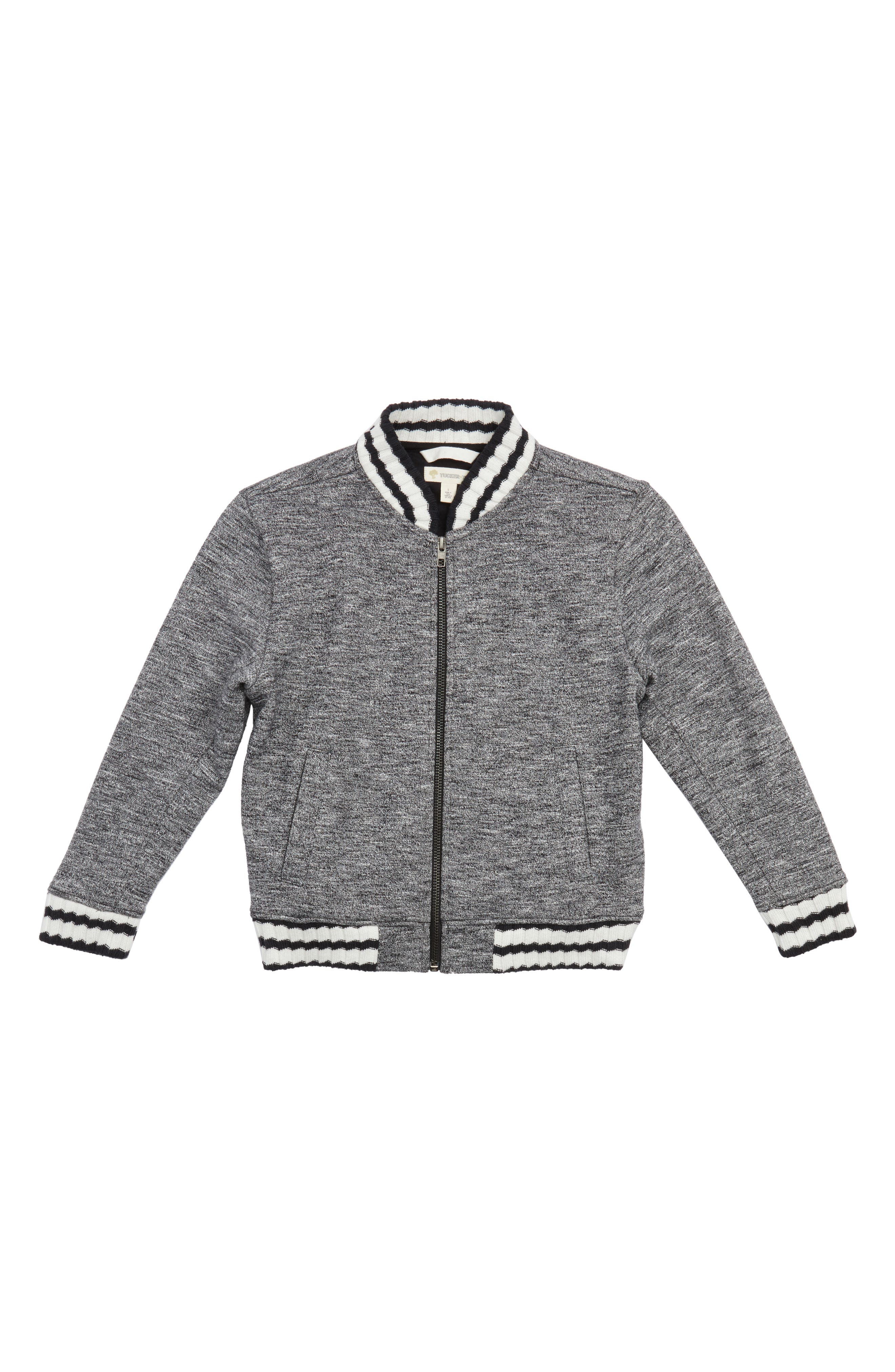 Mélange Varsity Jacket,                             Main thumbnail 1, color,                             001