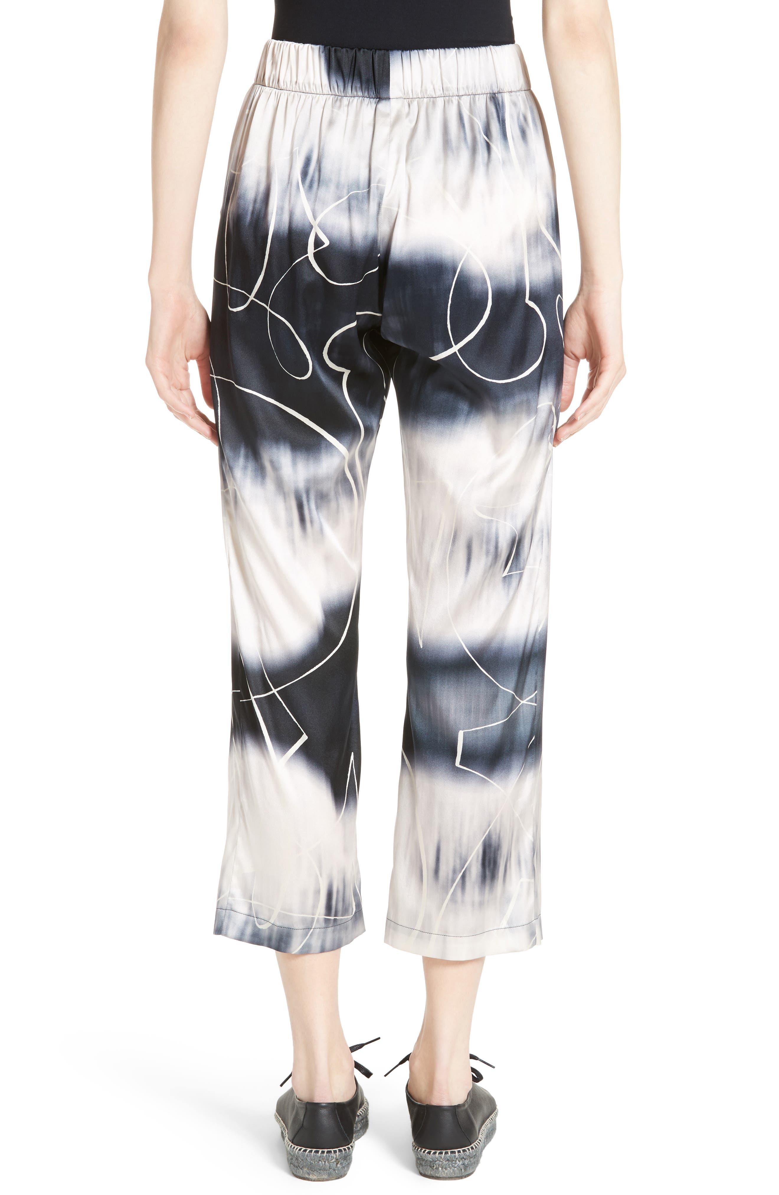 Eko Elliott X-Ray Stretch Silk Pants,                             Alternate thumbnail 2, color,                             100