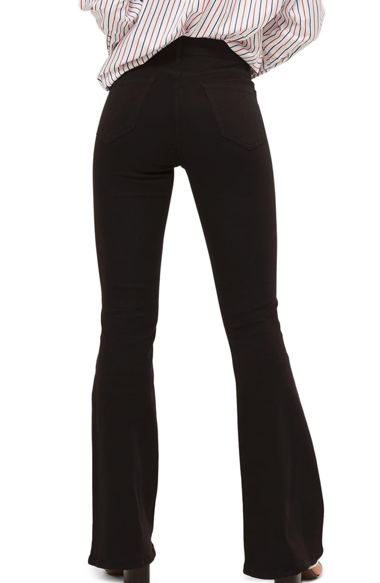 Jamie High Waist Flare Jeans,                             Alternate thumbnail 2, color,                             001