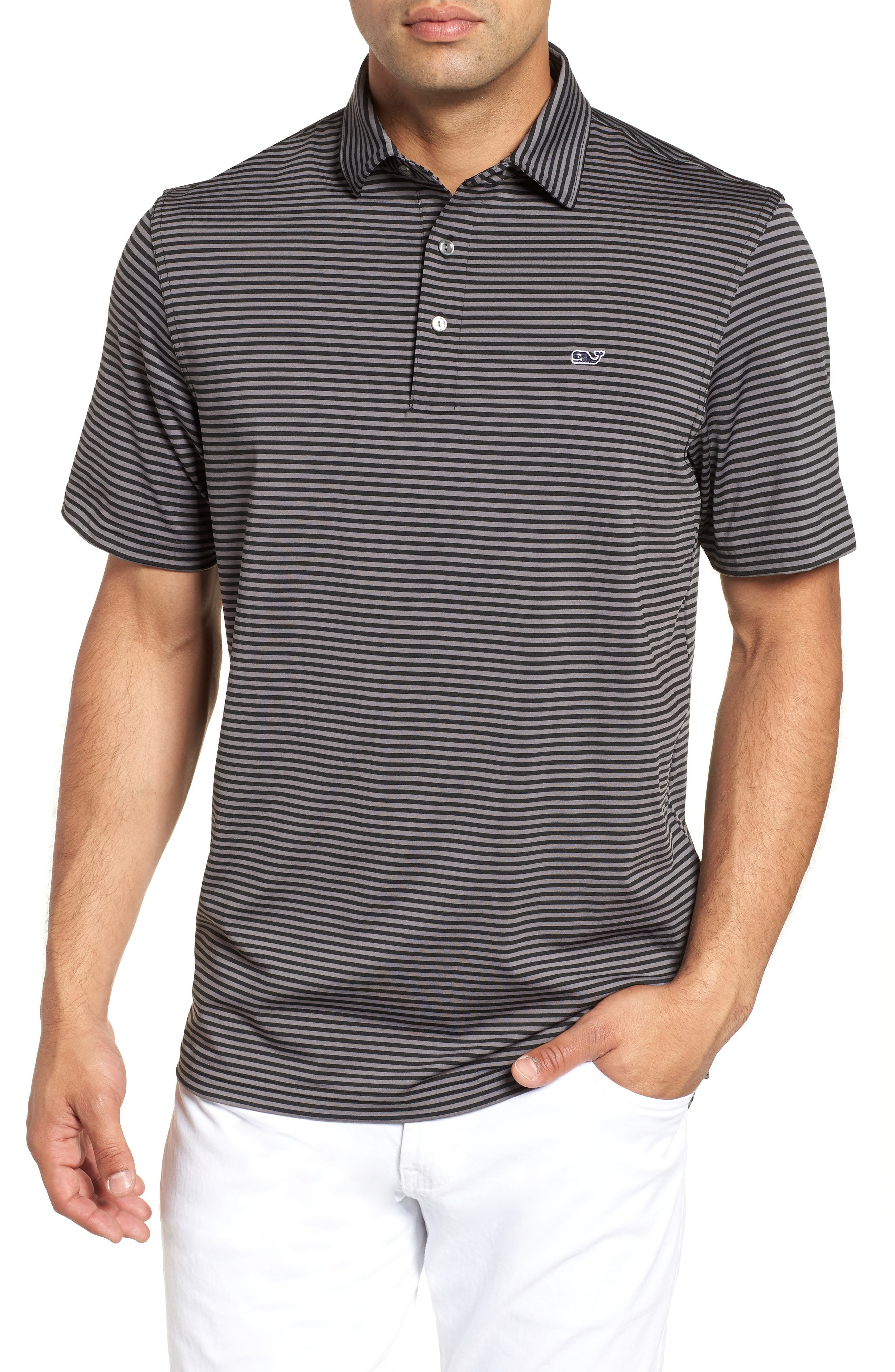 Kennedy Stripe Golf Polo,                         Main,                         color,