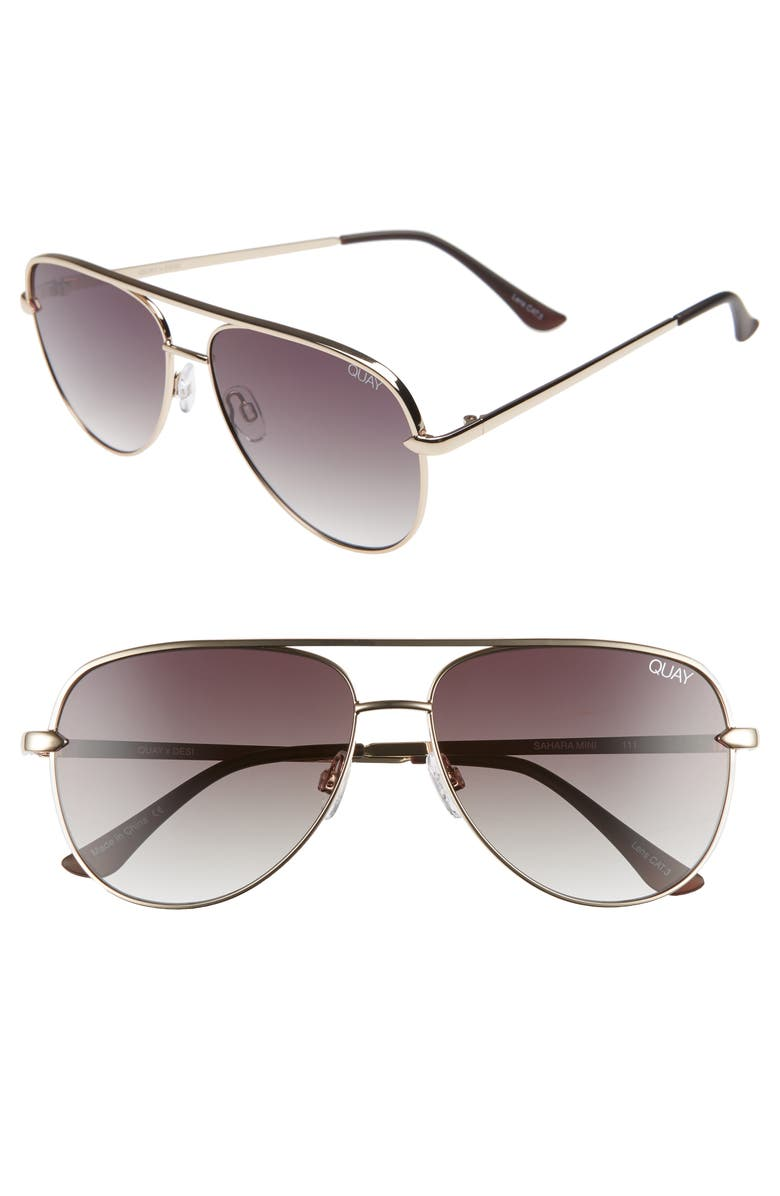 39bd91b82c Quay Australia x Desi Perkins Sahara Mini 52mm Aviator Sunglasses ...