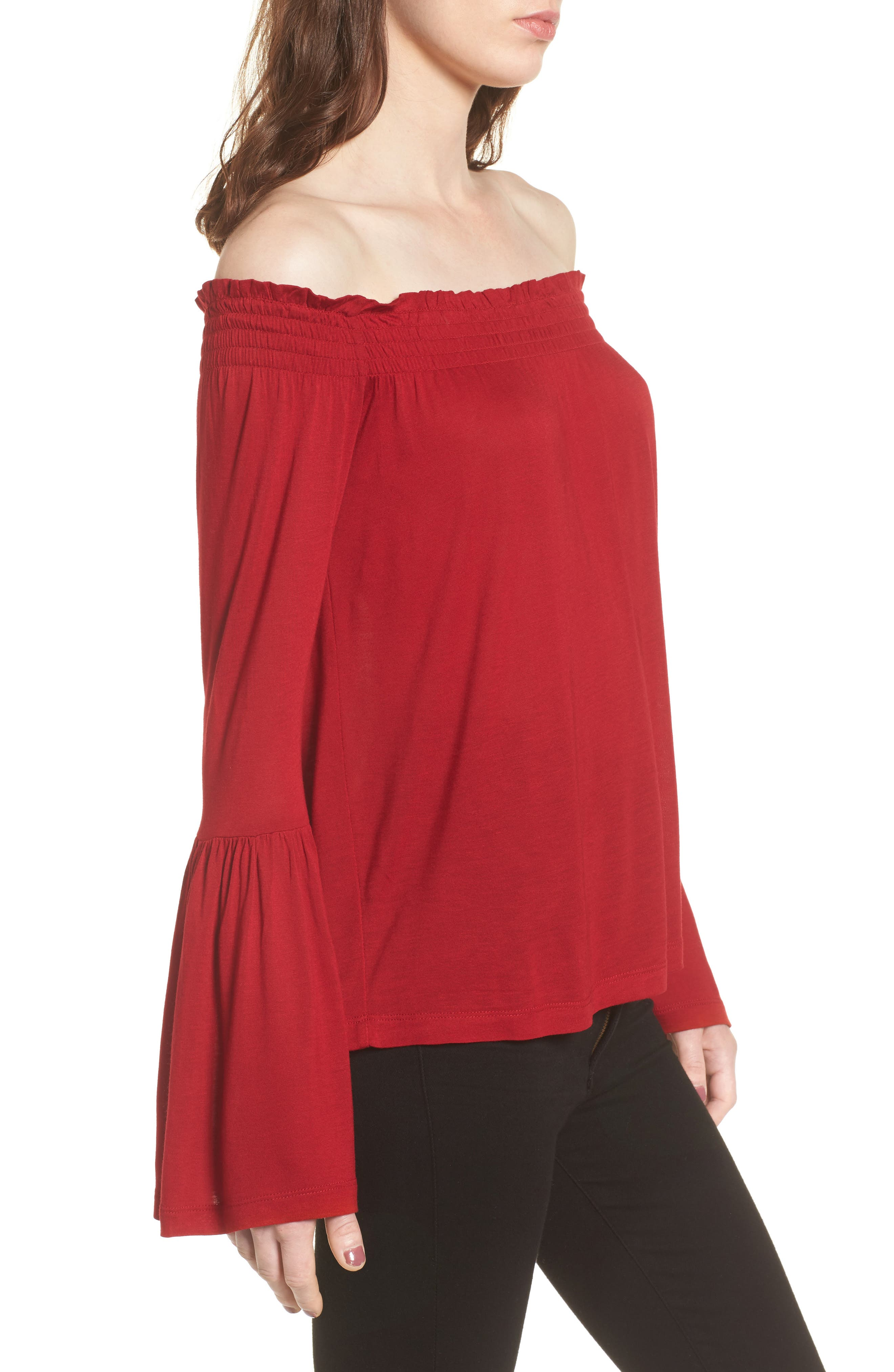 Luck Off the Shoulder Top,                             Alternate thumbnail 3, color,                             643