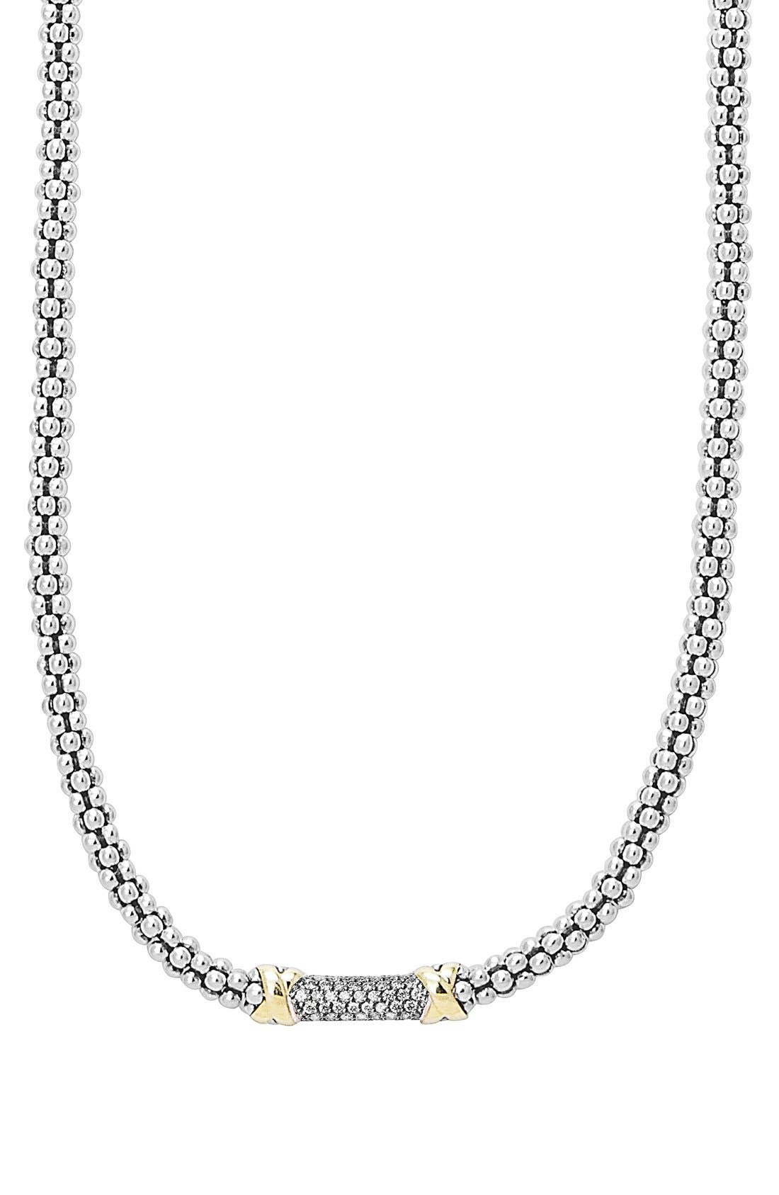 'Diamond Lux' Diamond Rope Necklace,                             Alternate thumbnail 5, color,                             040