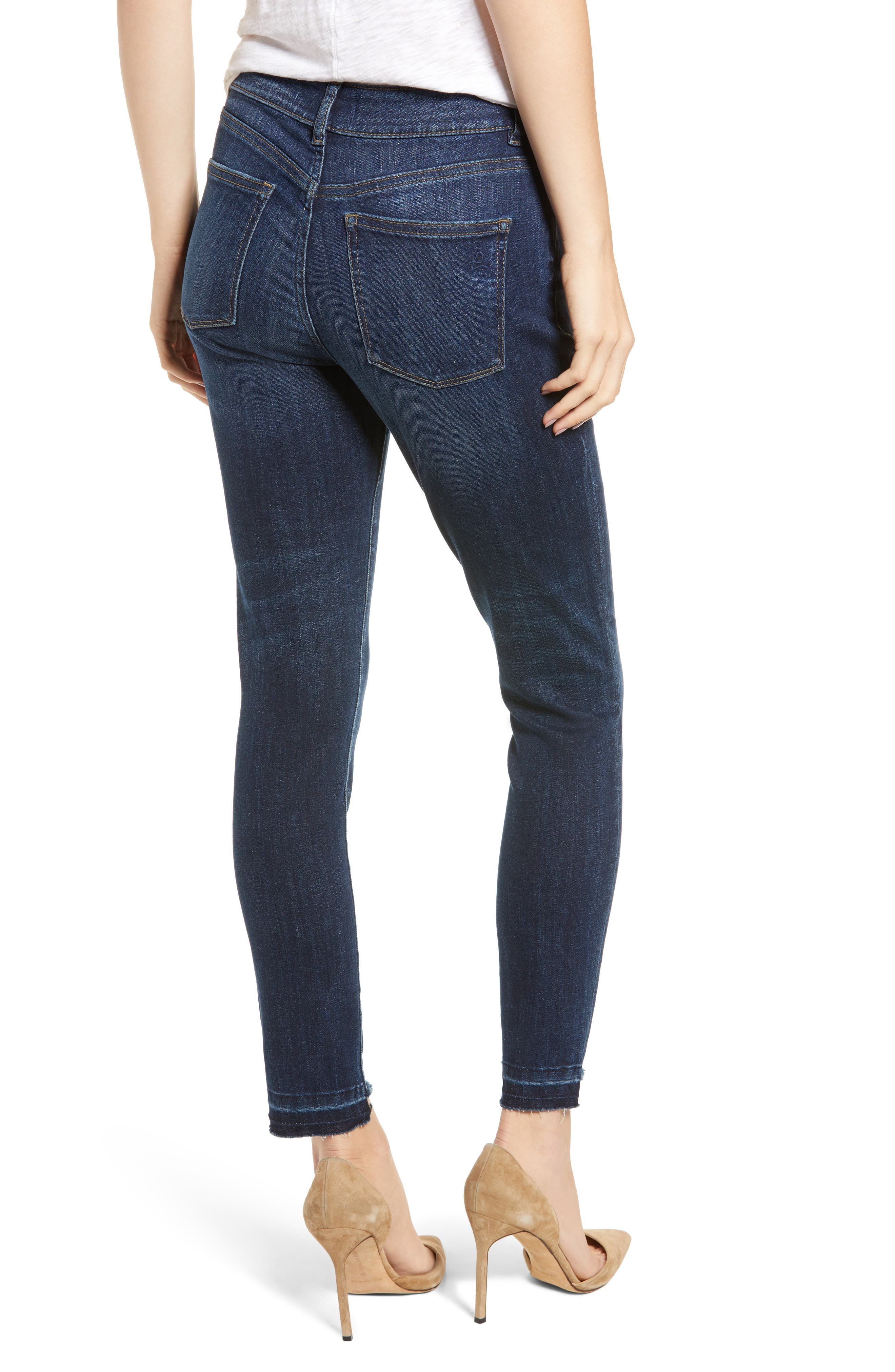 Chrissy Ultra High Waist Ankle Skinny Jeans,                             Alternate thumbnail 2, color,                             WAKELY