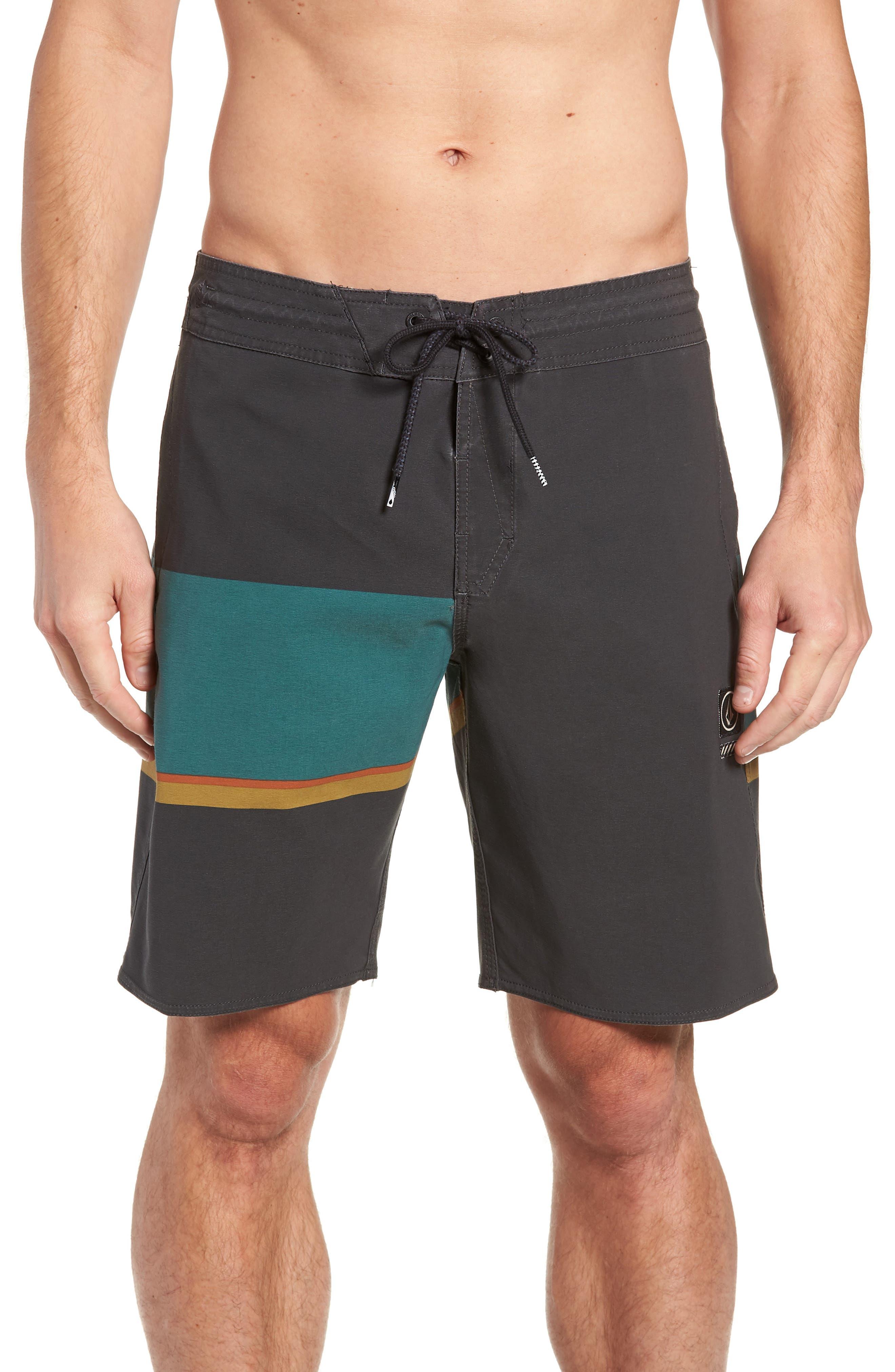 VOLCOM 3 Quarta Stoney Board Shorts, Main, color, 366