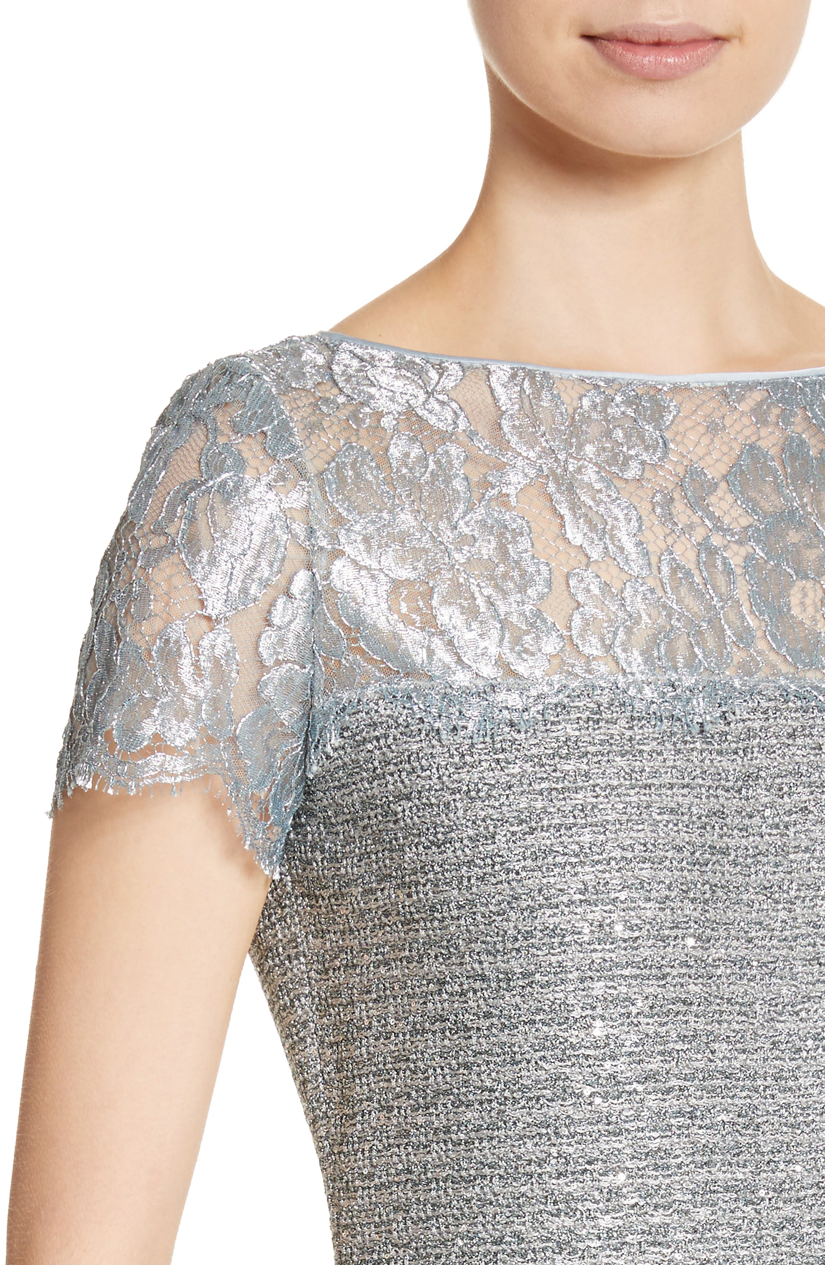 Metallic Sequin Knit Dress,                             Alternate thumbnail 4, color,