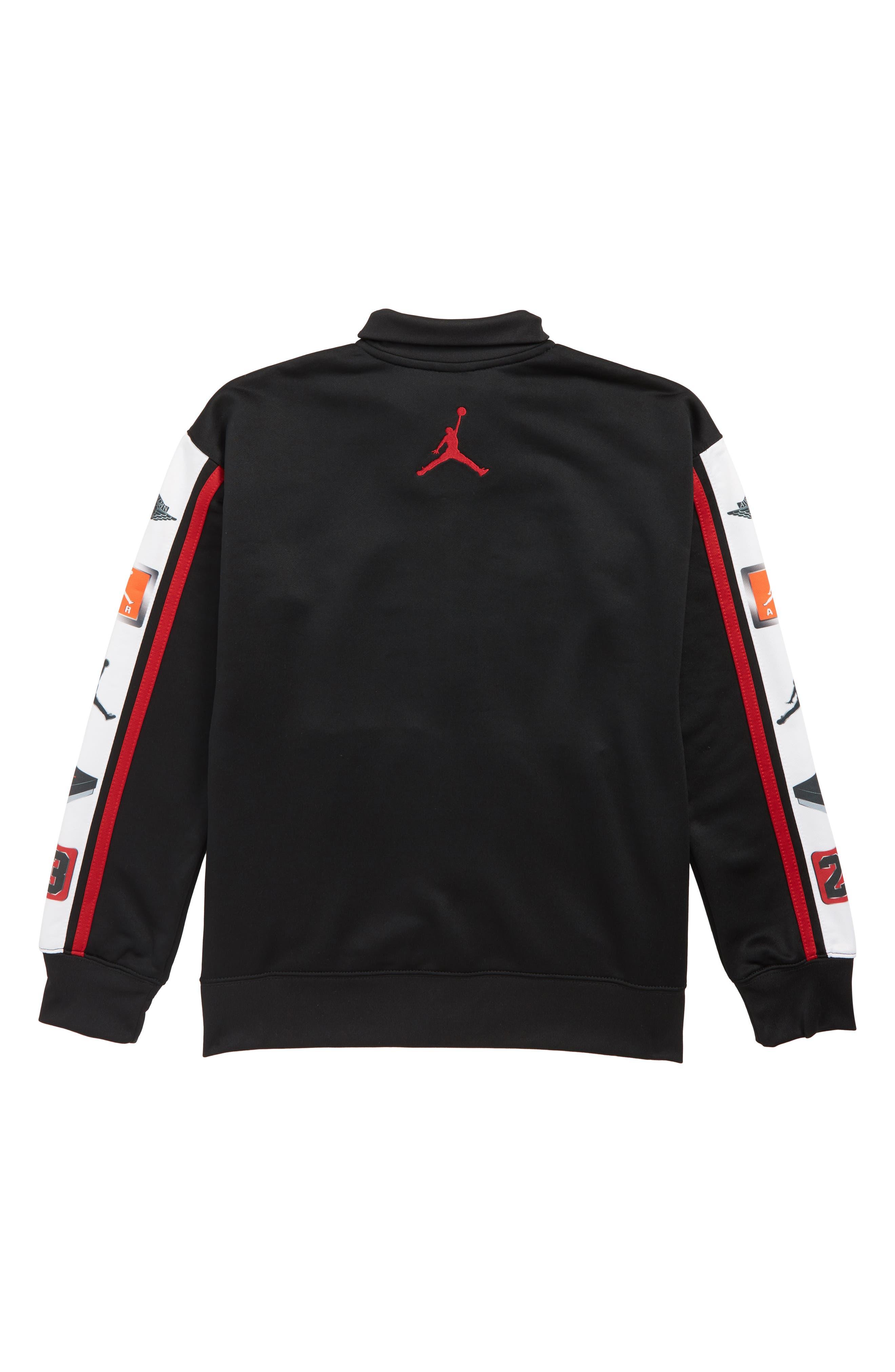 Jordan Celebrity Air Jordan Track Jacket,                             Alternate thumbnail 2, color,                             BLACK