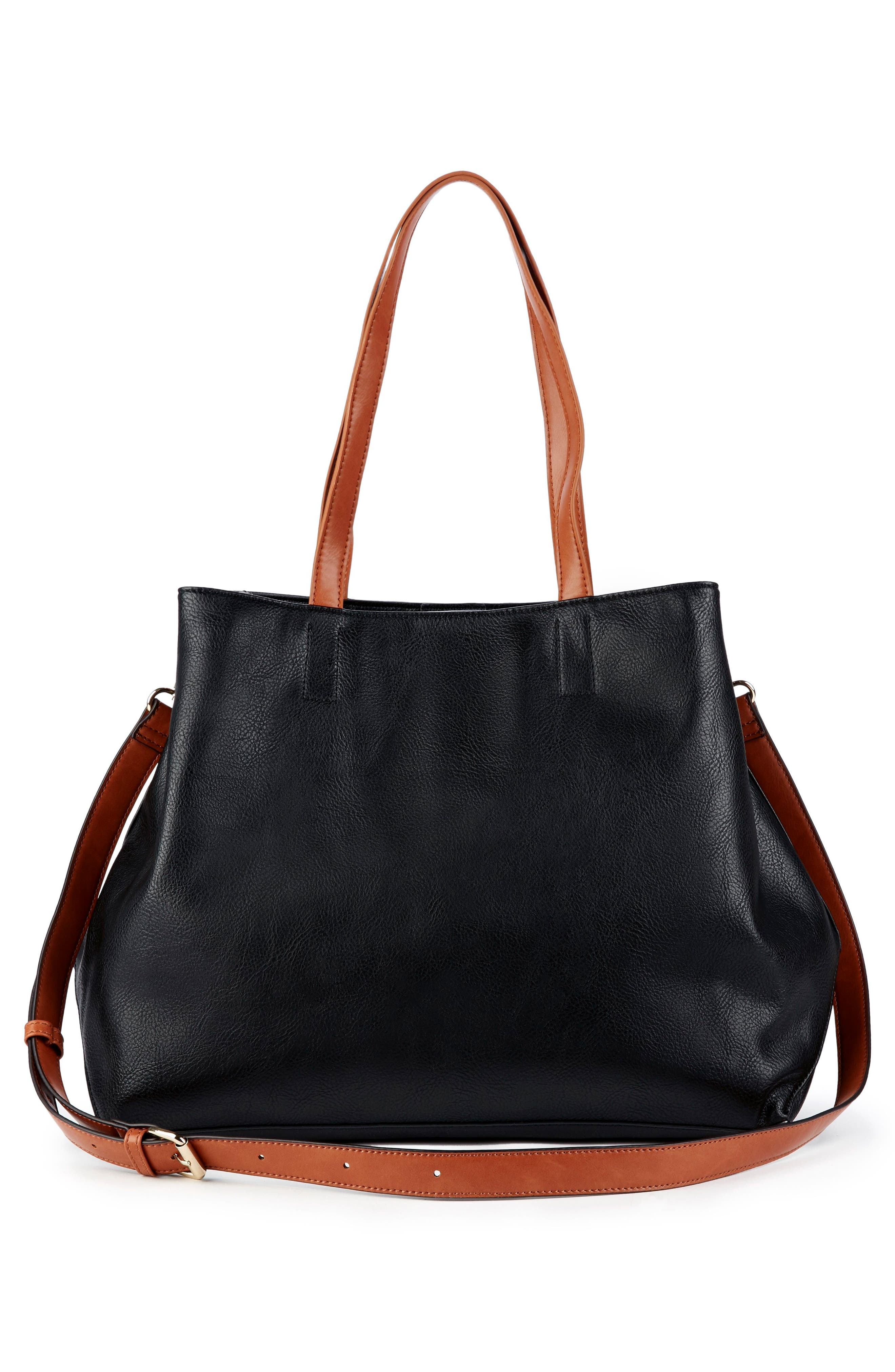 Hester Faux Leather Tote,                             Alternate thumbnail 2, color,                             001