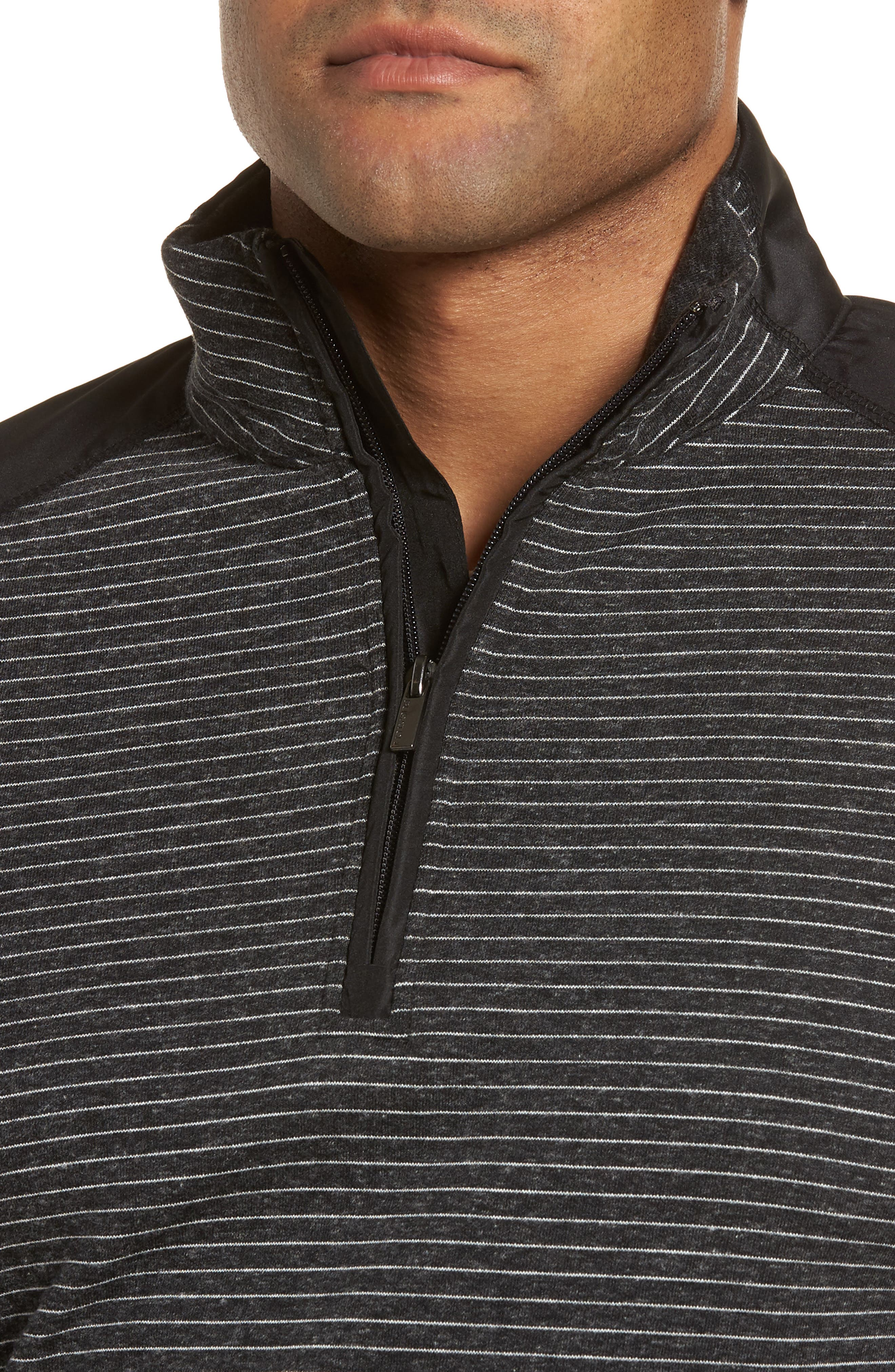 Regular Fit Stripe Quarter Zip Pullover,                             Alternate thumbnail 17, color,