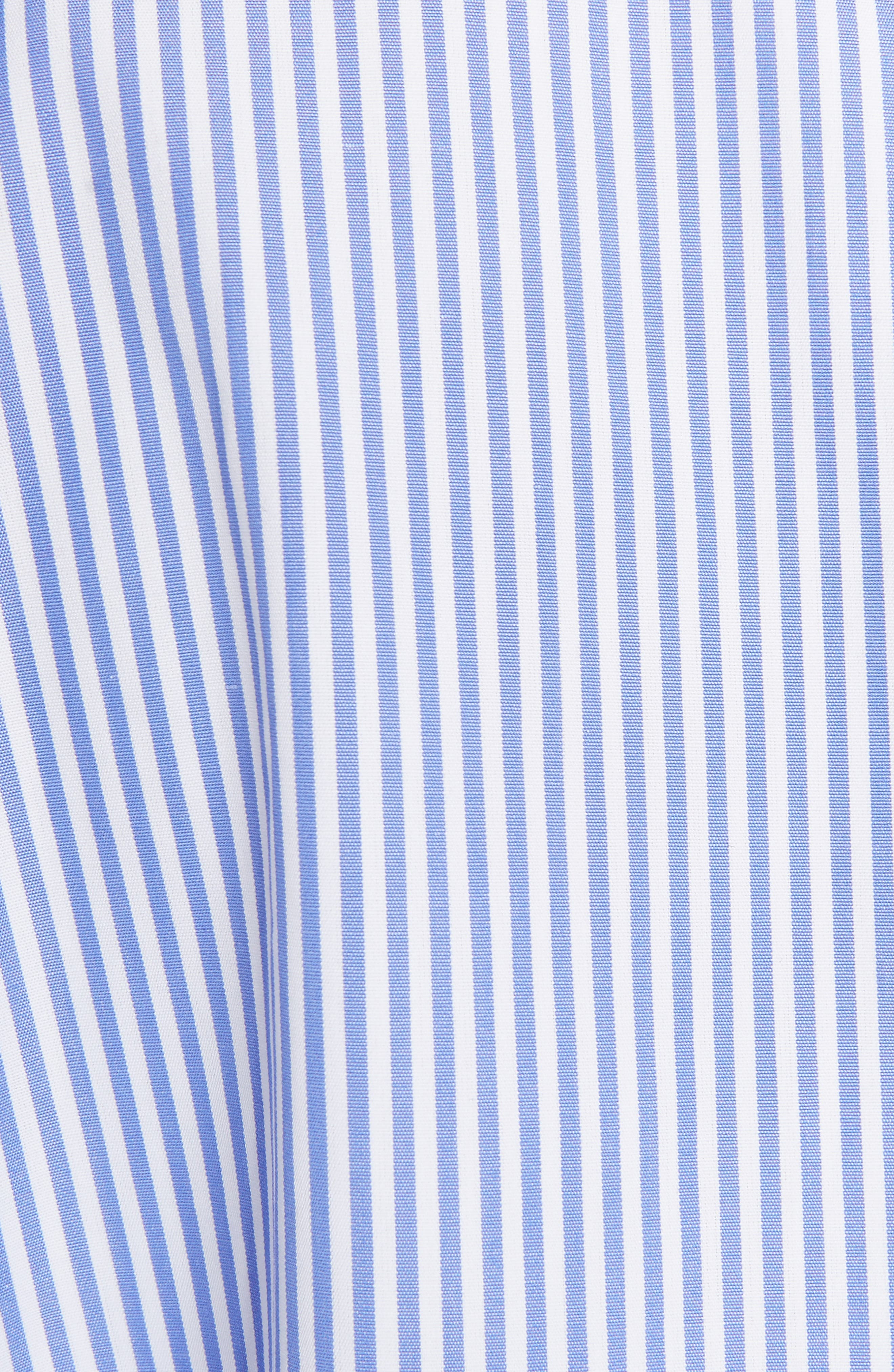 Stripe Cotton Poplin Cape Top,                             Alternate thumbnail 5, color,                             469