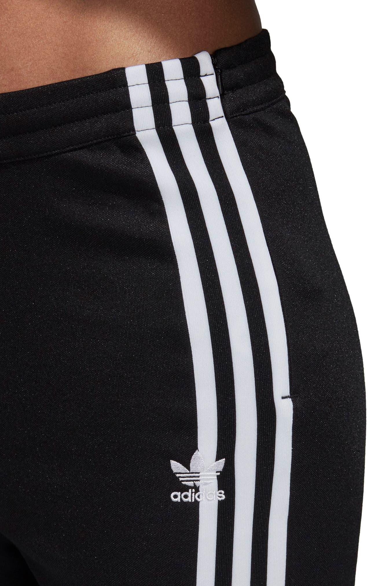 adidas 3 Stripe Track Pants,                             Alternate thumbnail 8, color,                             BLACK