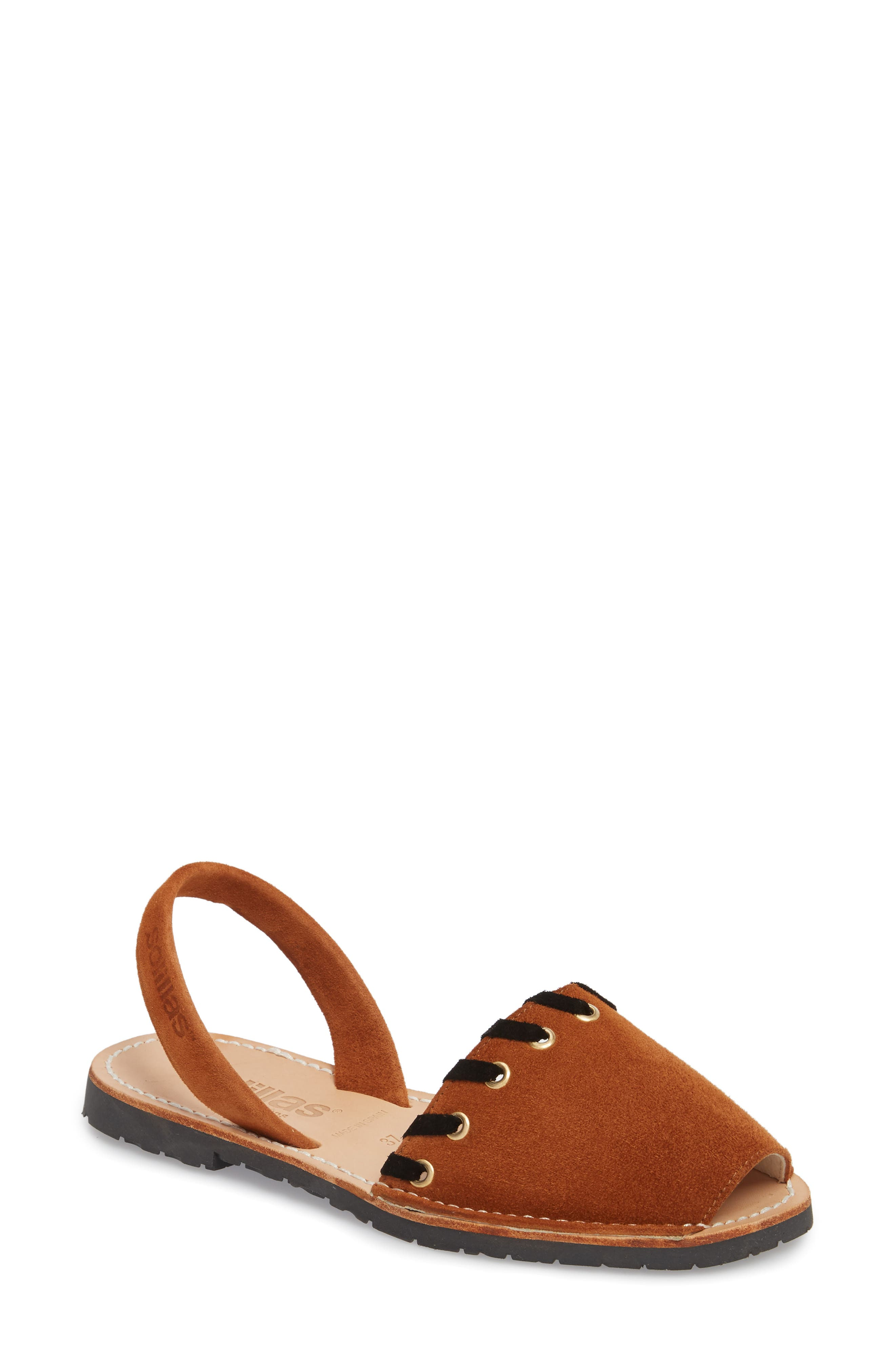 Whipstitched Flat Sandal,                             Main thumbnail 2, color,
