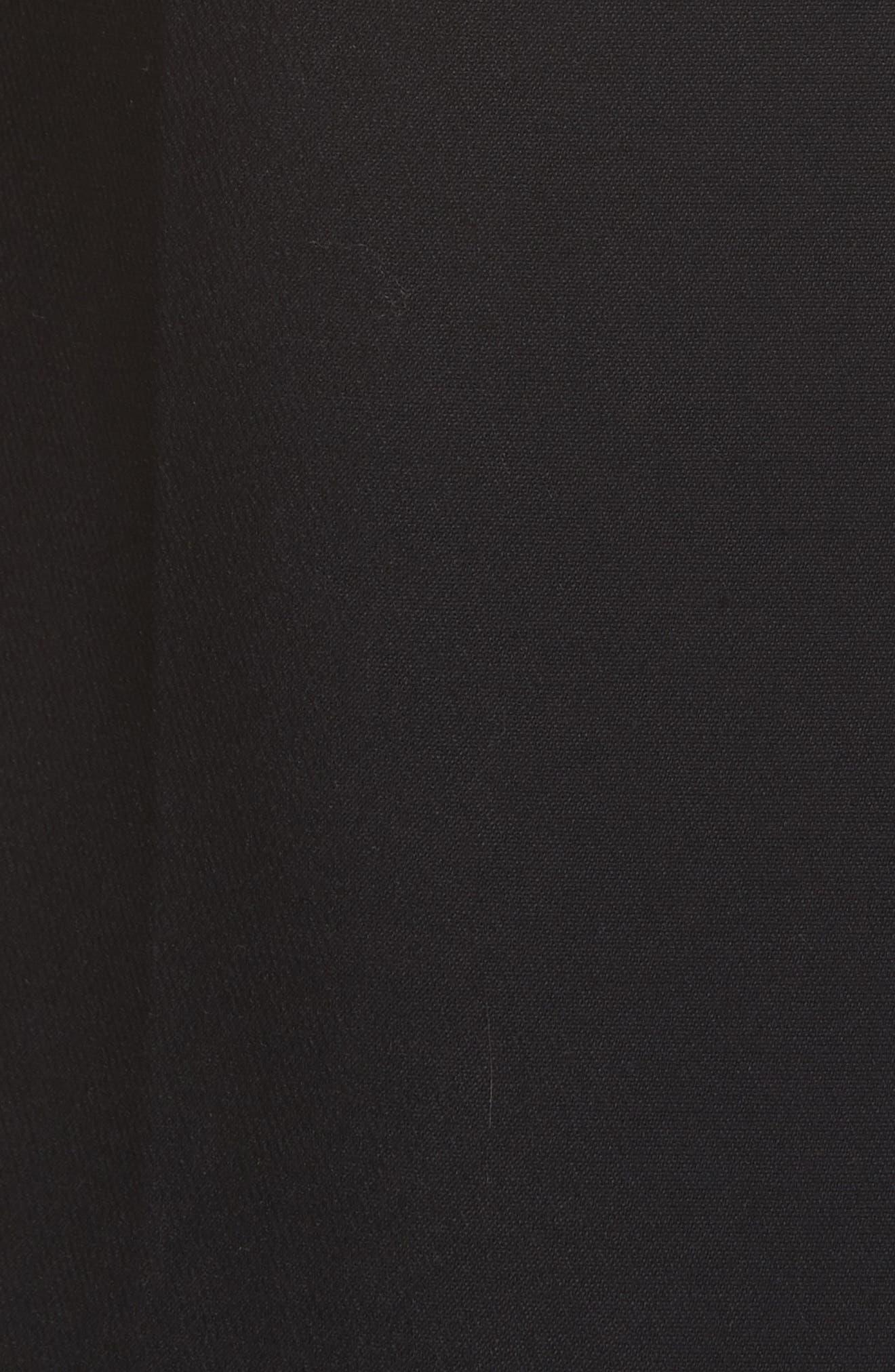 Studded Camisole Dress,                             Alternate thumbnail 5, color,                             BLACK