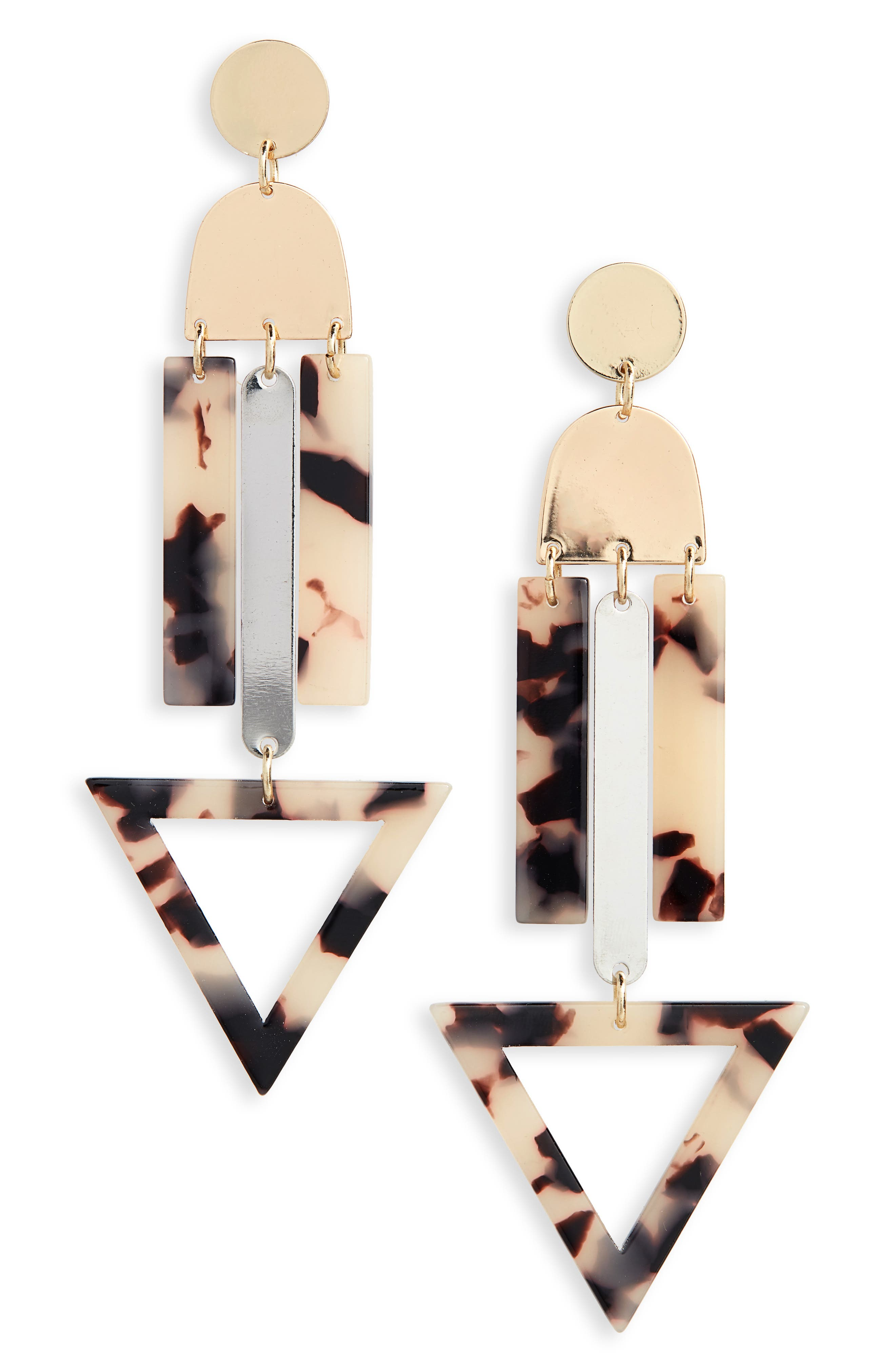 NEW FRIENDS COLONY Franz Drop Earrings in Gold/ Multi