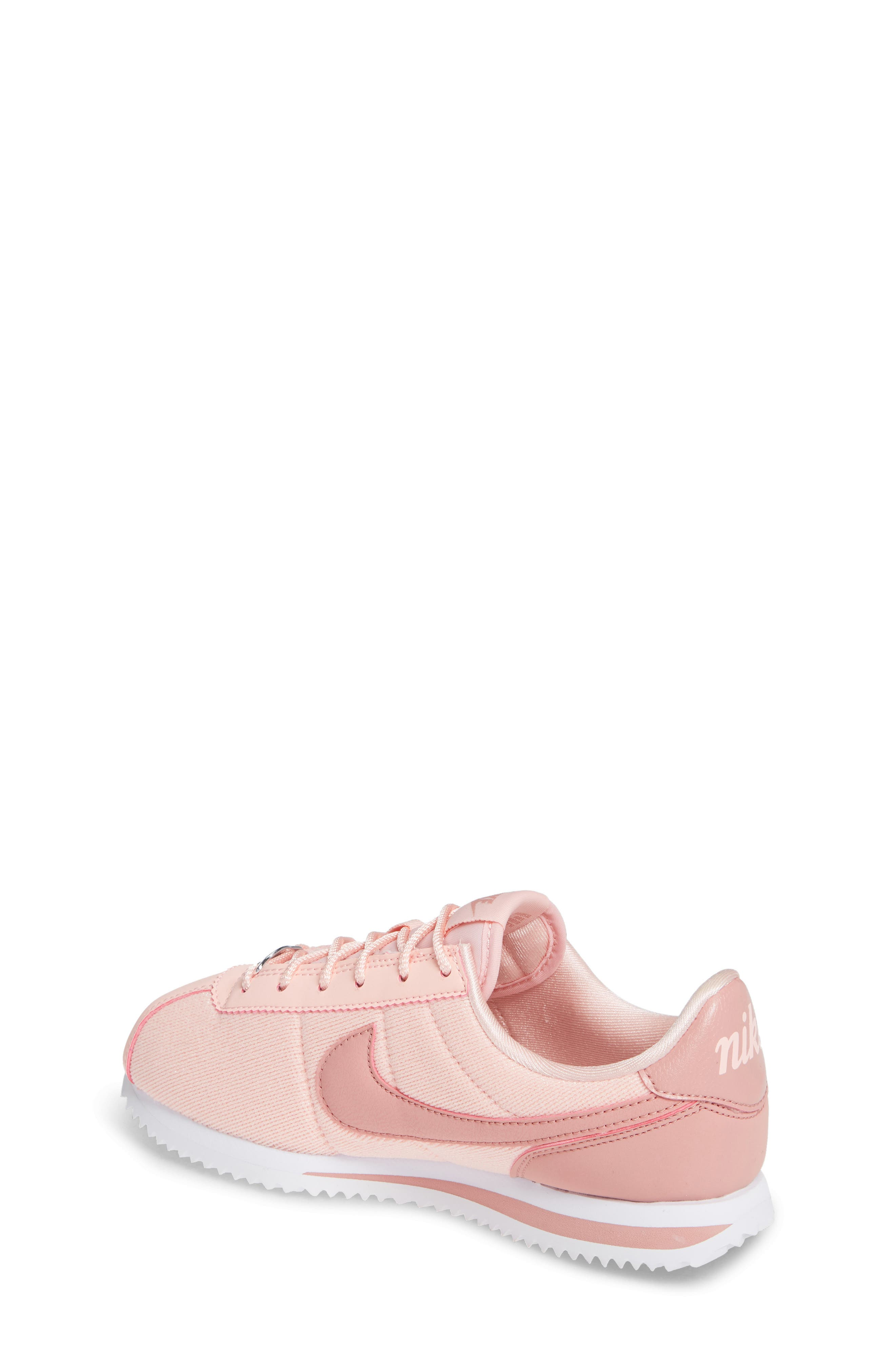 Cortez Basic TXT SE Sneaker,                             Alternate thumbnail 2, color,                             STORM PINK/ RUST PINK/ WHITE