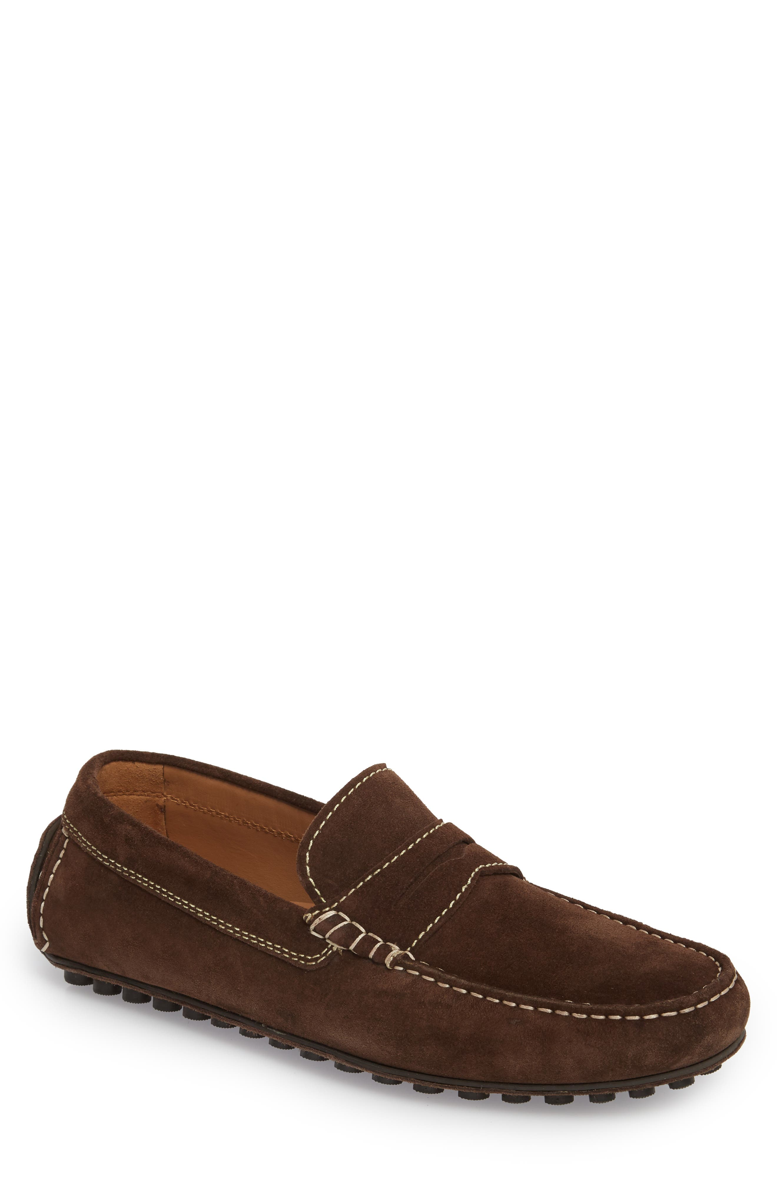 Le Mans Penny Driving Loafer,                             Main thumbnail 1, color,                             CHOCOLATE