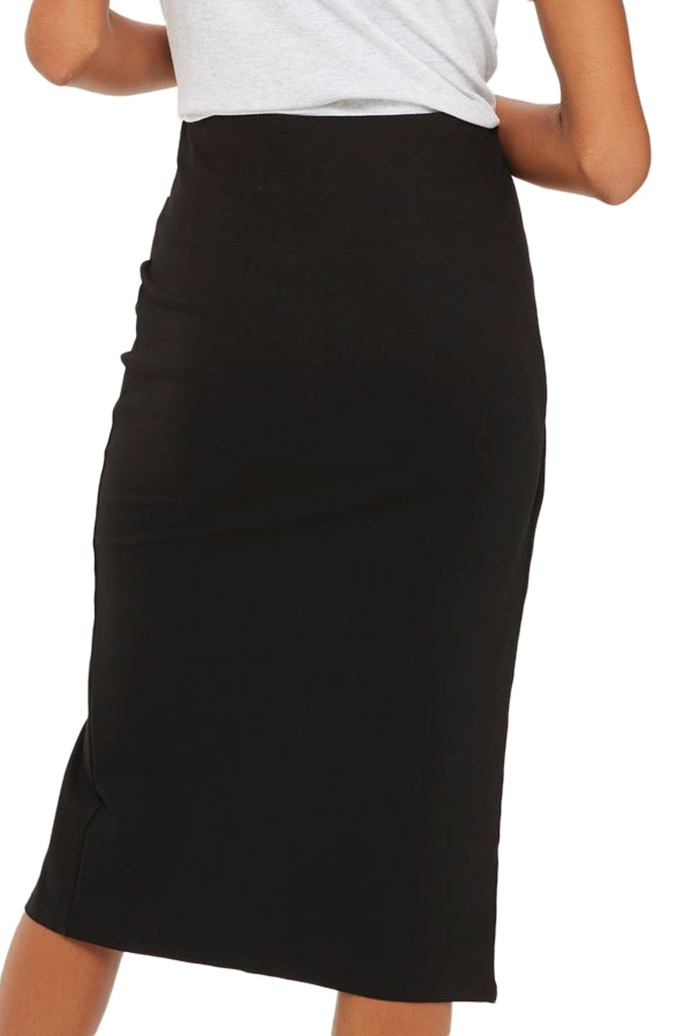 Eyelet Detail Wrap Jersey Skirt,                             Alternate thumbnail 2, color,                             001