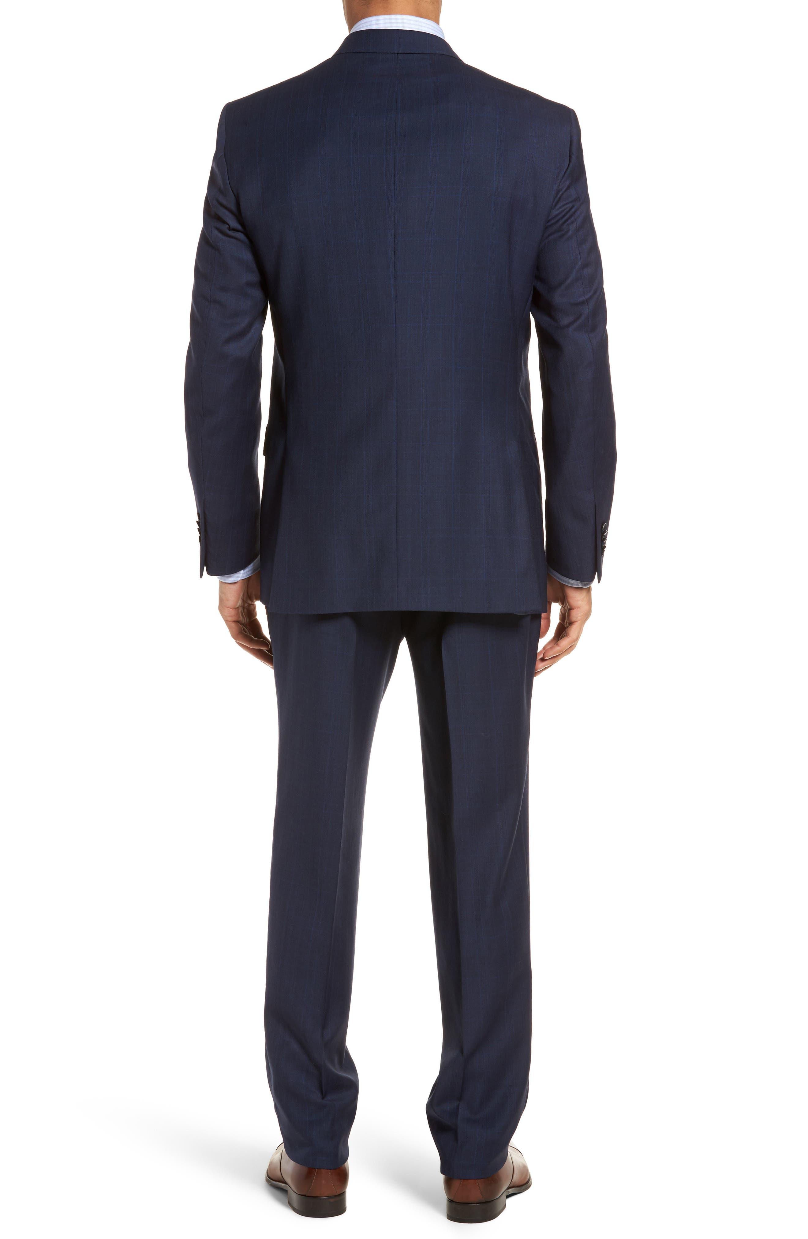 Classic Fit Plaid Wool Suit,                             Alternate thumbnail 2, color,                             410