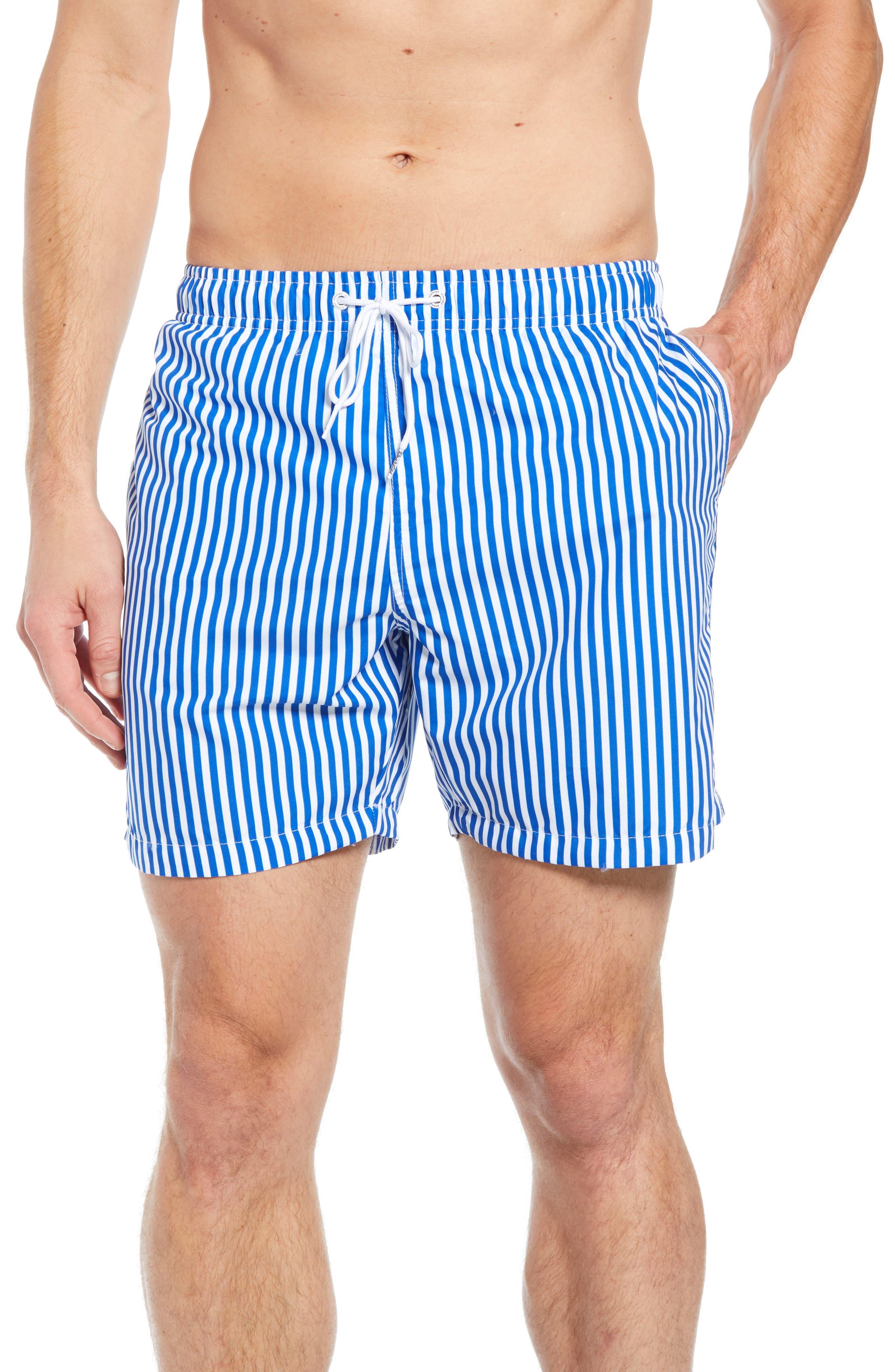 Deck Stripes Swim Trunks,                         Main,                         color, 400