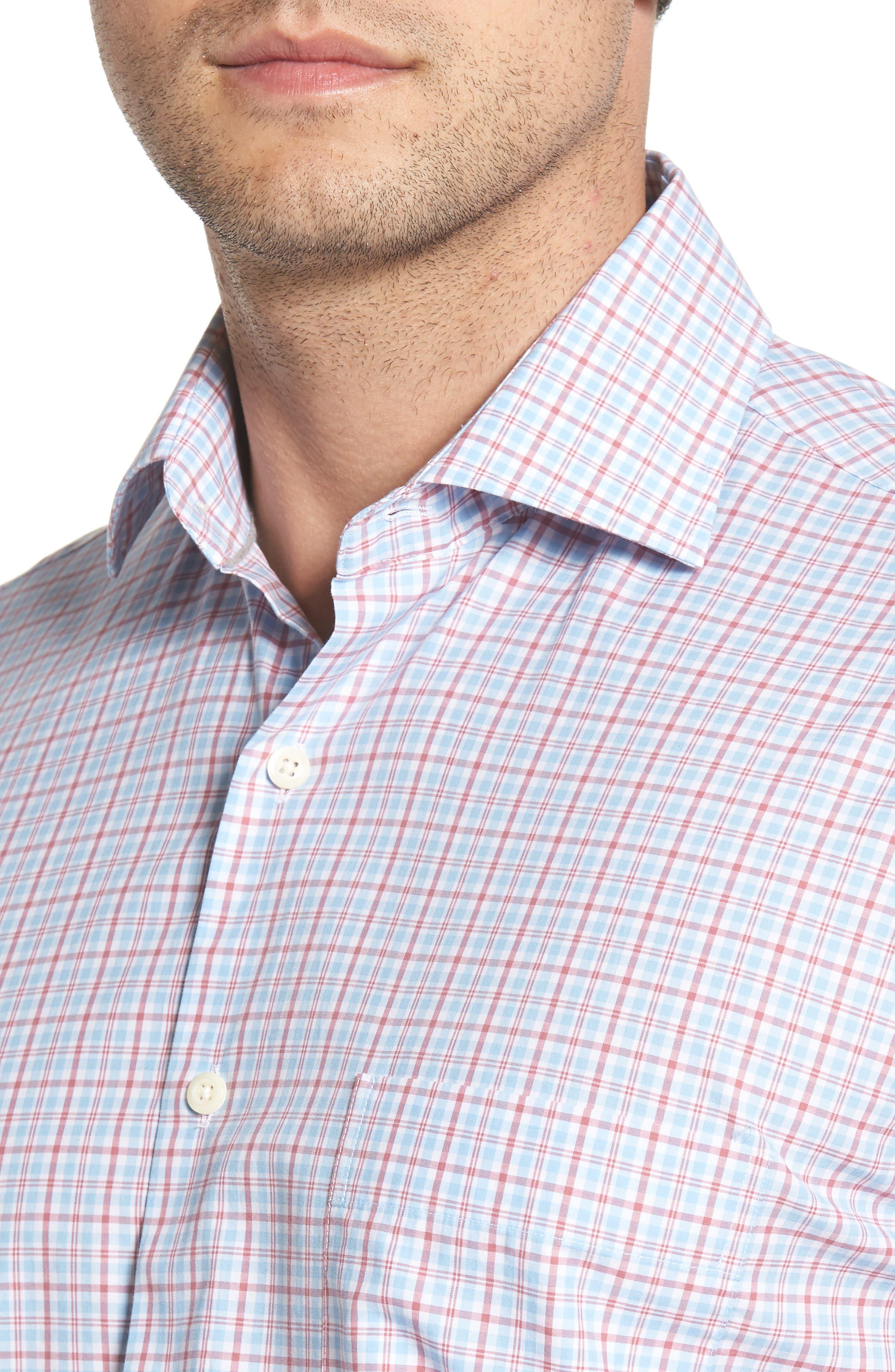 Delridge Regular Fit Tartan Sport Shirt,                             Alternate thumbnail 4, color,                             400